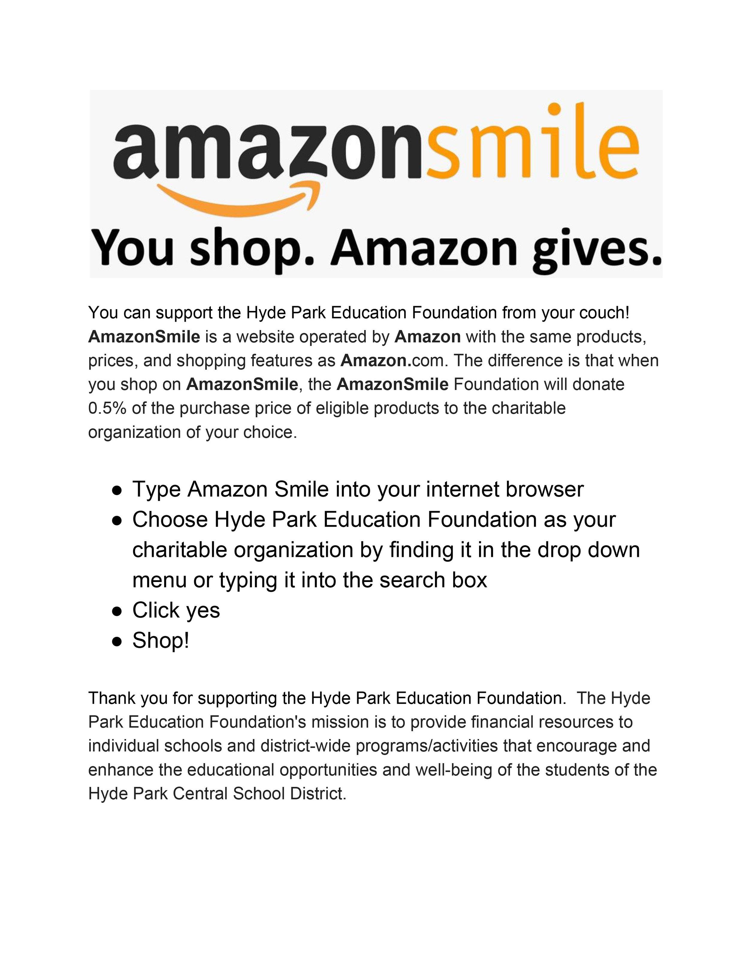 HPEF Amazon Smile