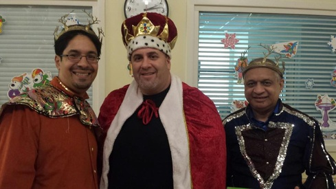 Our very own Three Kings went on a mission  today to deliver gifts for children, collected  by an anonymous donor.  That's the spirit of the season!