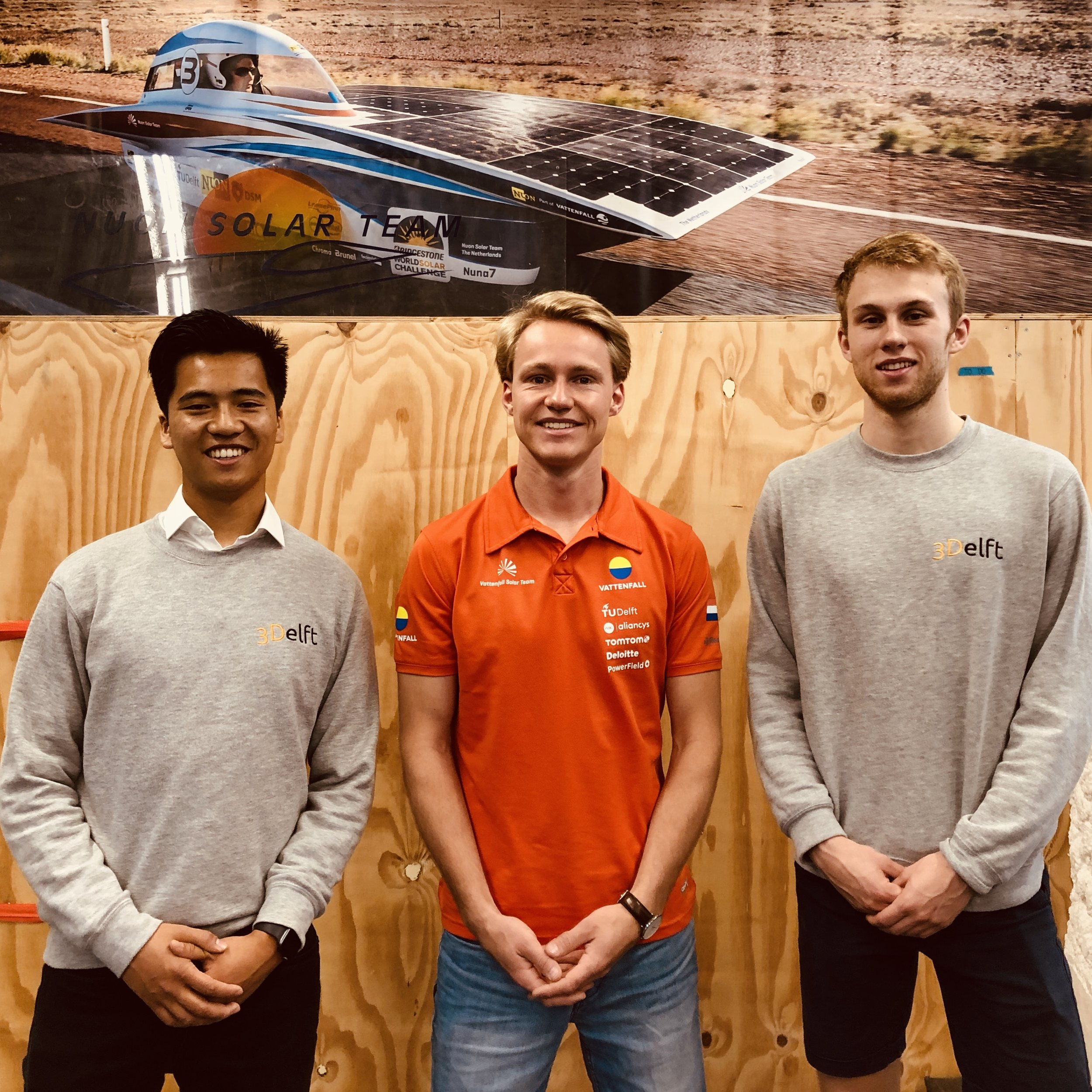Vattenfall Solar Team - The Vattenfall Solar Team is aiming to build world's fastest solar car to win the Bridgestone World Solar Challenge 2019. We like to see how they show the possibilities of high-end technology and sustainable energy. Their next extraordinary creation will be NunaX. We are proud to contribute to NunaX by providing lightweight 3D printed parts, which are optimised by combining our knowledge of production and material sciences. Right now the intelligent techniques behind NunaX must stay a secret because of the tough competition. When the solar car is officially revealed, we will gladly update you with pictures of the integrated parts. We believe that the Vattenfall Solar Team will win the race and we wish them good luck with finalizing NunaX.To learn more about NunaX, visit their website.