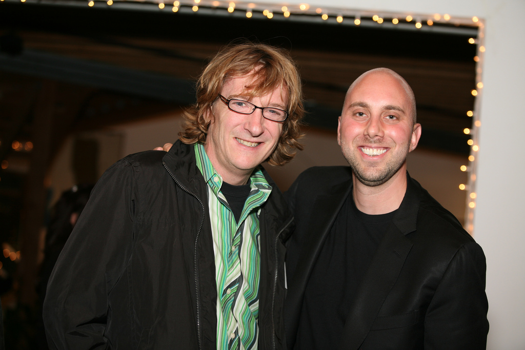 Me w/ film director Chris Paine of  Who Killed The Electric Car  and  Revenge of the Electric Car