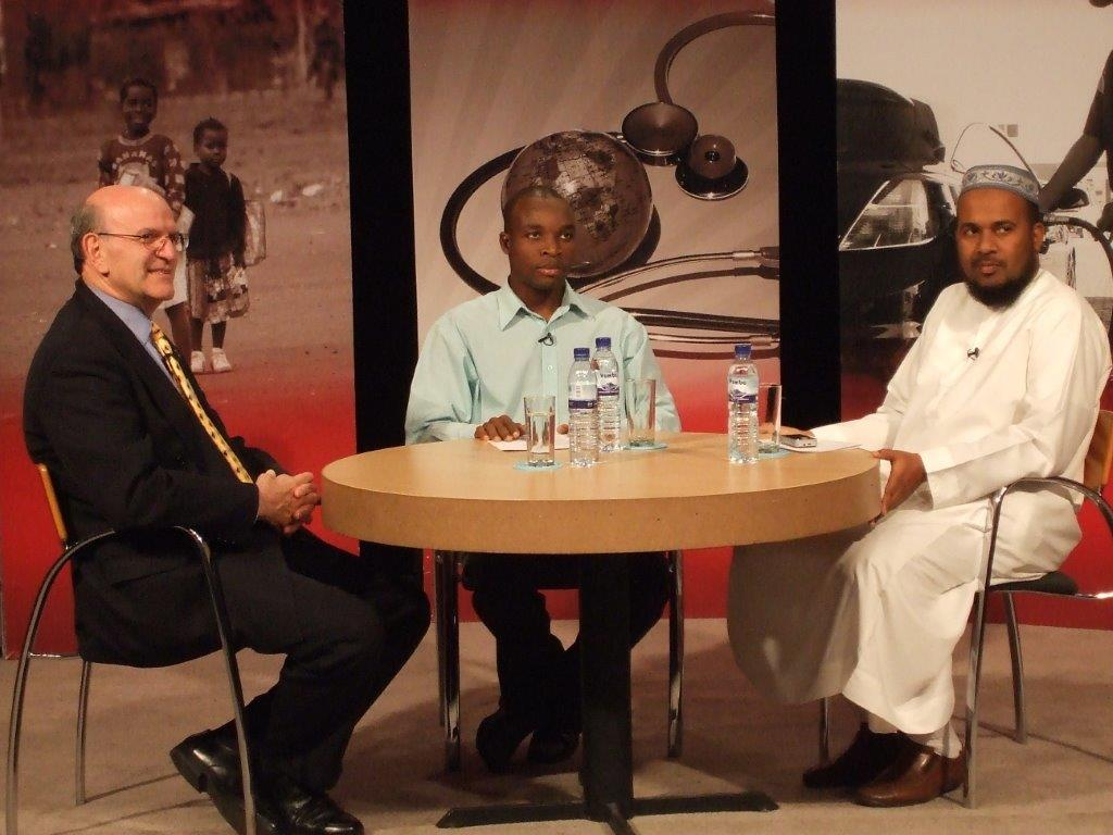 Founder Barney Rosenberg appearing on live Portuguese language TV in Mozambique