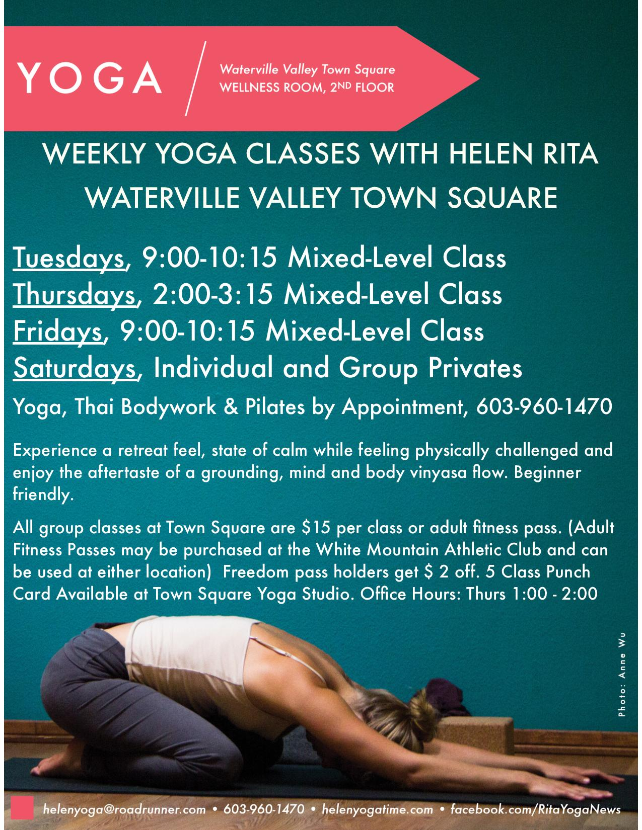 Summer Yoga Schedule