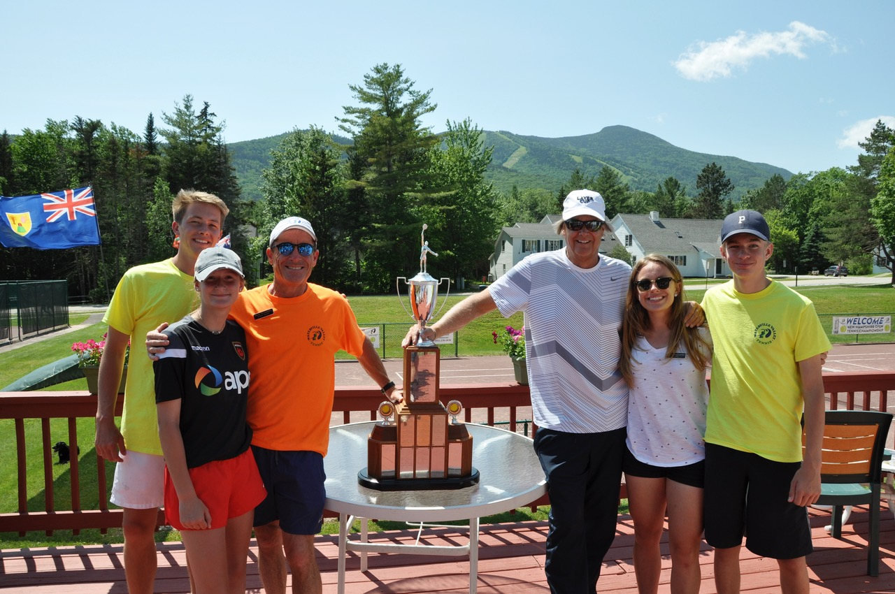"The Waterville Valley Tennis Center, headed by owner USPTA Head Pro Tom Gross, Jr. recently hosted the prestigious Friendship Cup –a ""friendly"" two day singles and doubles format for men and women ages 45 thru 80. This year's event (the 52ndAnniversary) drew a field of more than 100 men for both countries."