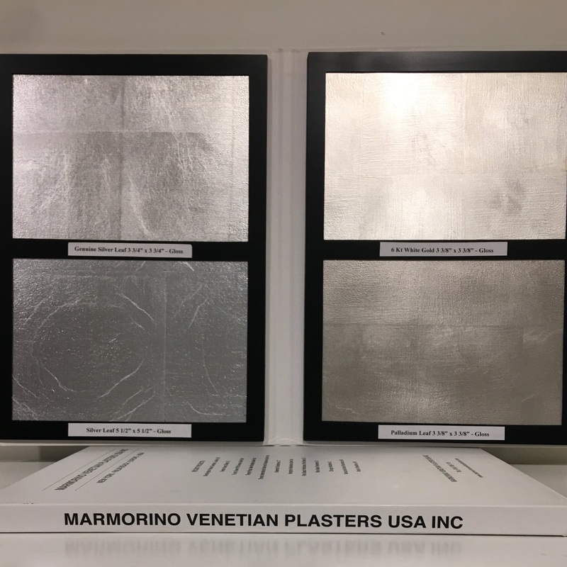 GILDING - Marmorino Venetian Plasters USA Inc also offers professional gilding services where we use the highest quality in Italian produced Gold, Silver and a variety of other types of leaf.