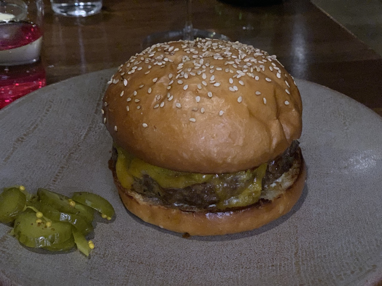 Yummy burger.