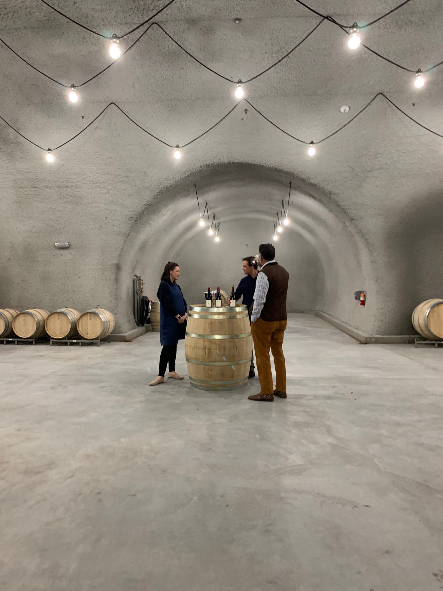 Plenty of space in the winery for winemaker Clayton Kirchoff, to have some fun expanding the Hudson brand.