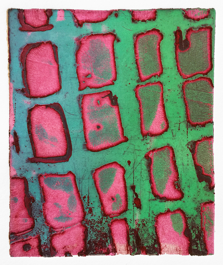 Pink and Green Sticks (Night Spirits), 2018