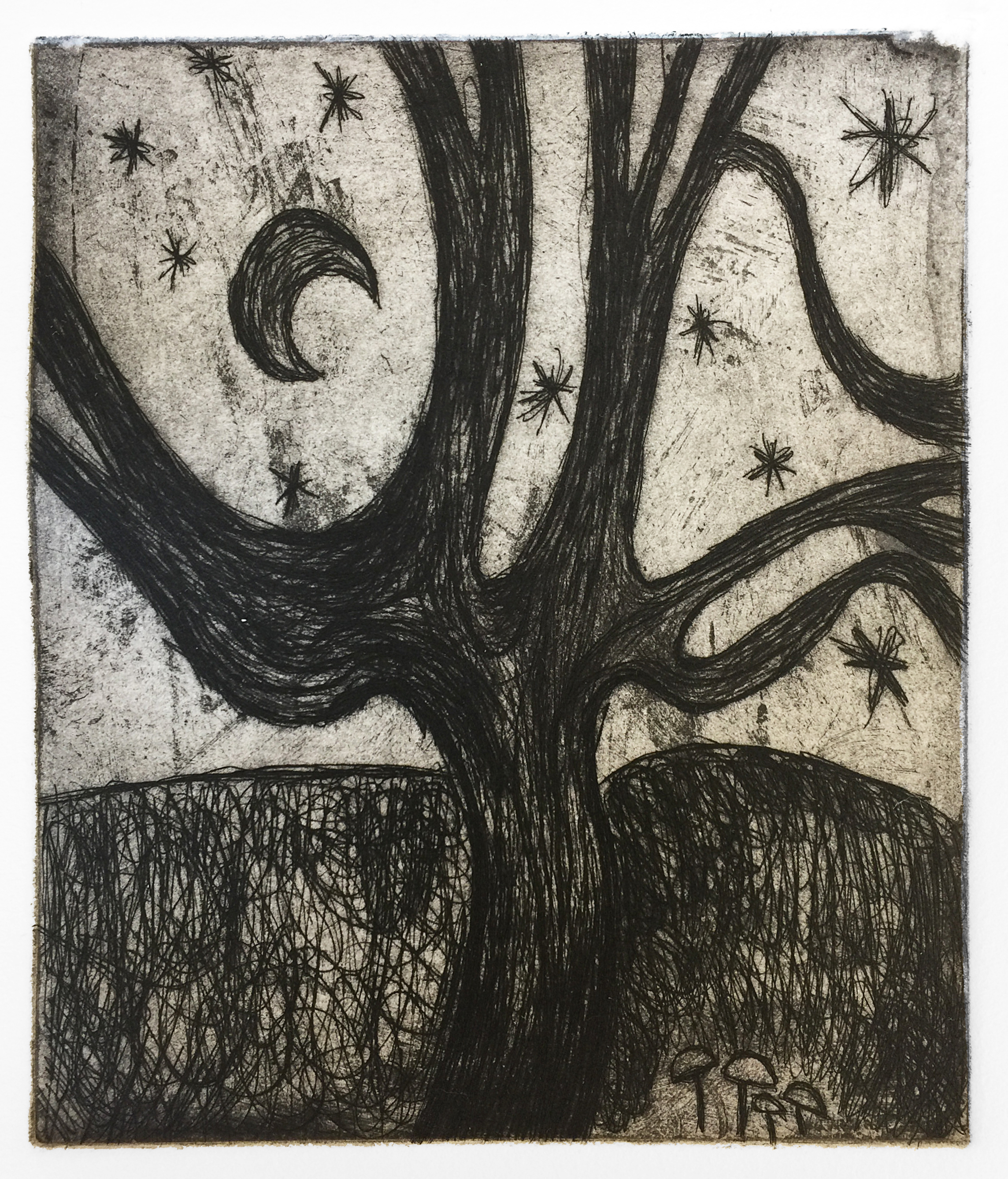 Tree with Moon (Nocturnes), 2019