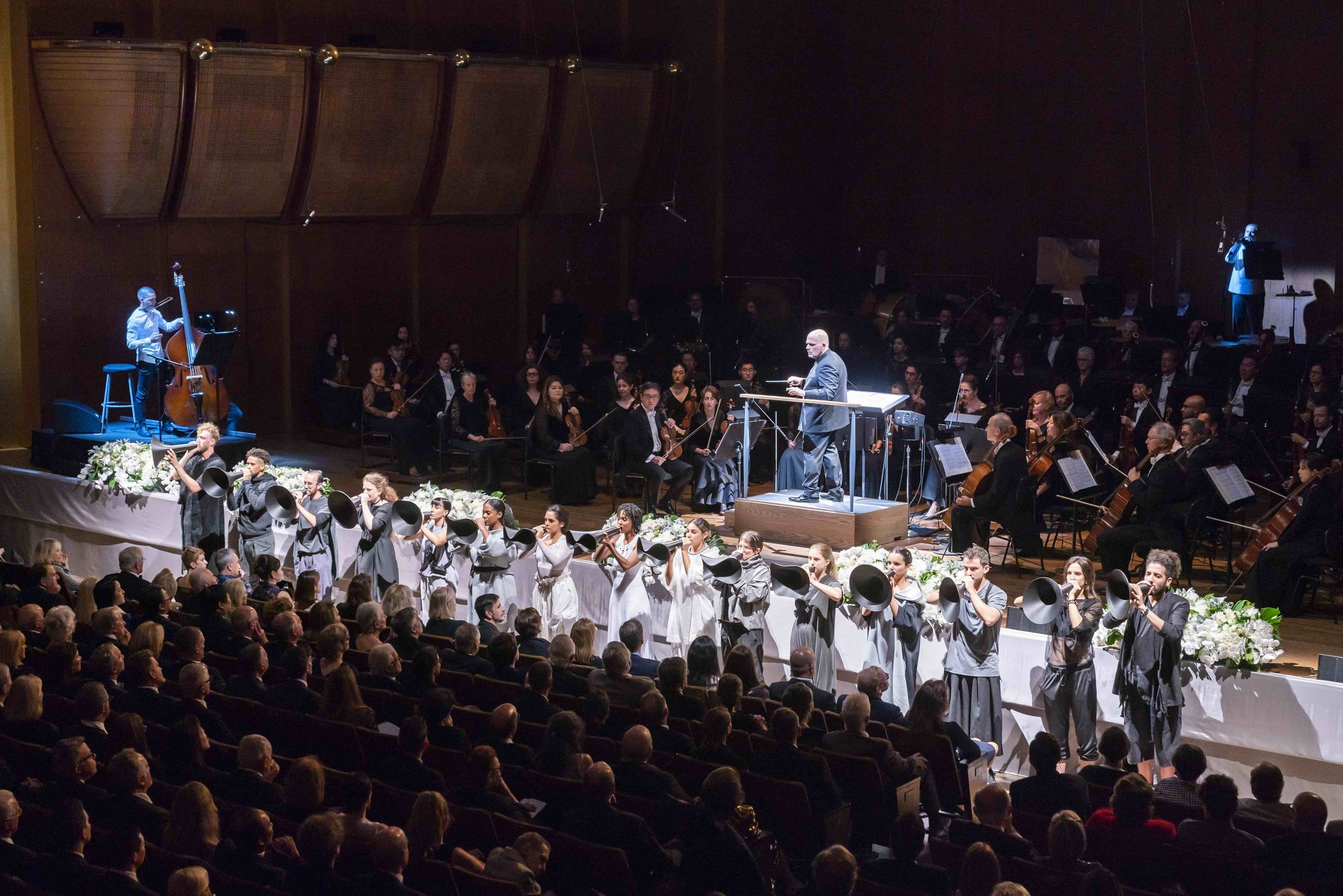 OPERA and MUSIC - Recent Credits: Ashley Fure's Filament at David Geffen Hall, as part of the program welcoming the New York Philharmonic's new conductor, Jaap van Zweden. Also, 21st Century Sound Stories, a trilogy of site-specific operas for Qubit, a contemporary music and performance art initiative.Marika also designs for Manhattan School of Music's Opera Department, including The Snow Maiden, and the upcoming Albert Herring.(Photo By CHRIS LEE, from Ashley Fure's Filament for the NY Philharmonic at Lincoln Center's David Geffen Hall)