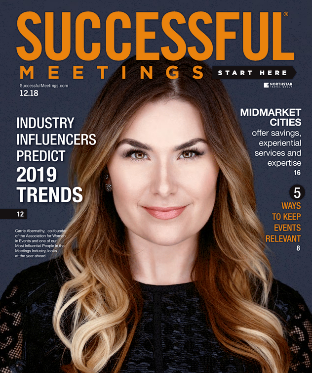 We're in the Trades! - Successful Meetings Magazine December 2018, Planner Excellence in Action, The Value of Face Time, Iron Peacock Events featured in this article!