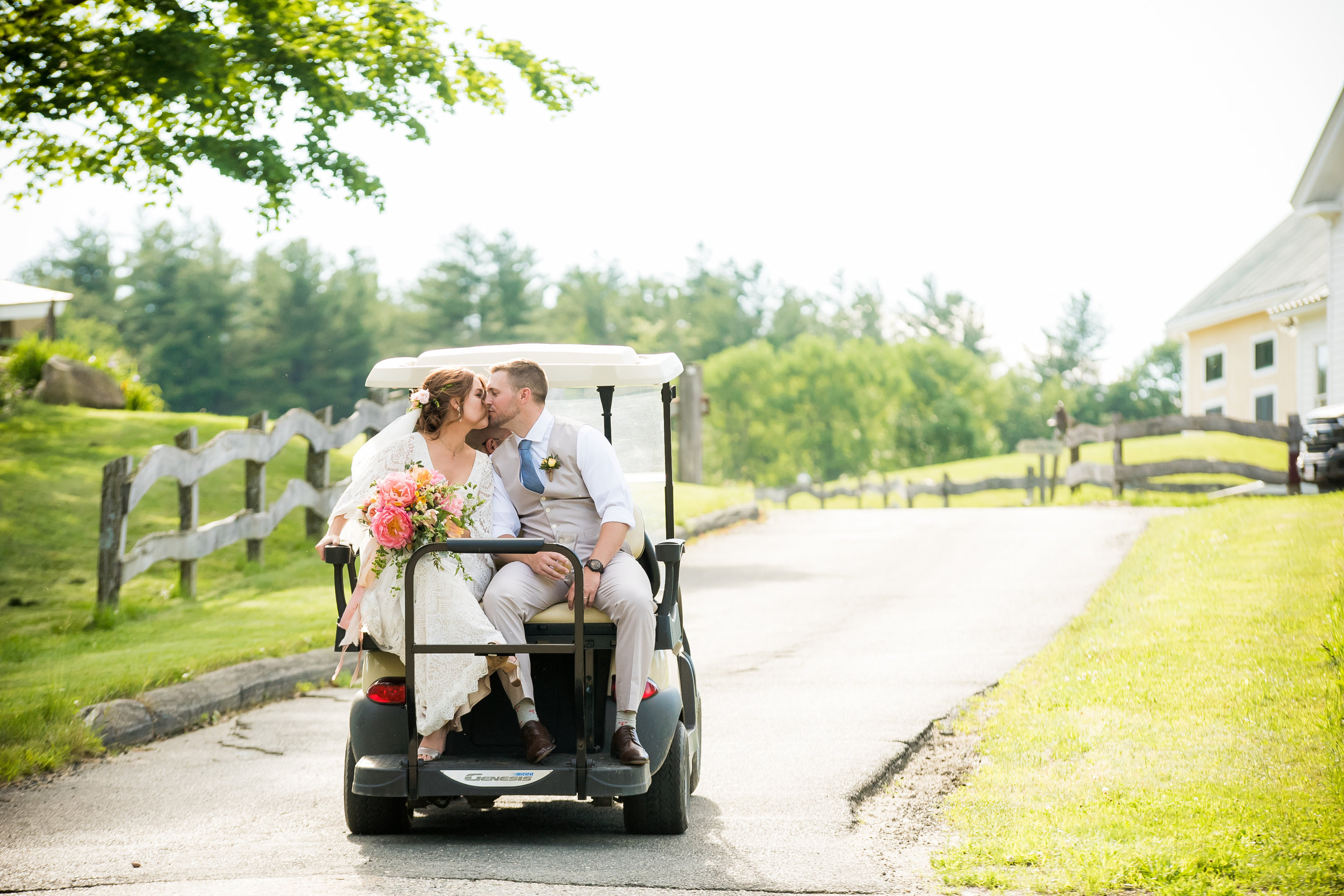 CONVENIENCE & COMFORT - It's a big farm and you have lots of pictures to take. Our golf cart escort will help get you, your photographers and videographers around quickly and efficiently for first look and sunset pictures. Other comforting amenities include blankets for use during the chilling evenings by our hand made stone fire pits and attentive staffing during the event to make sure things stay tidy and picture perfect.Solare Wedding Photography