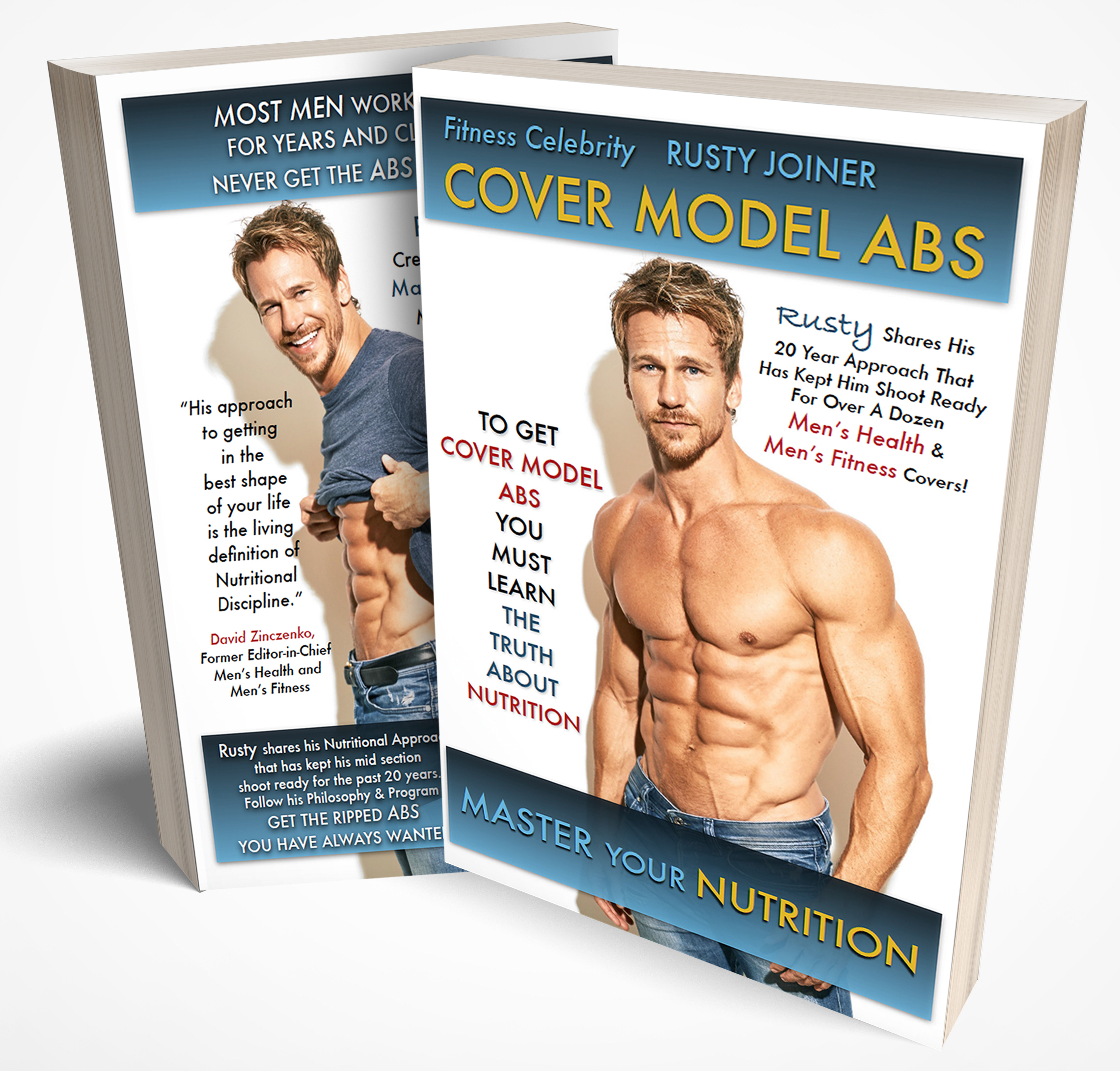 COVER MODEL ABS BOOK - Rusty shares his fitness journey in his new bookcover model absSee how he stays in elite shape for his TV & Film roles.Follow the nutritional plan that led Rusty to all his covers and his Master's Physique Title.
