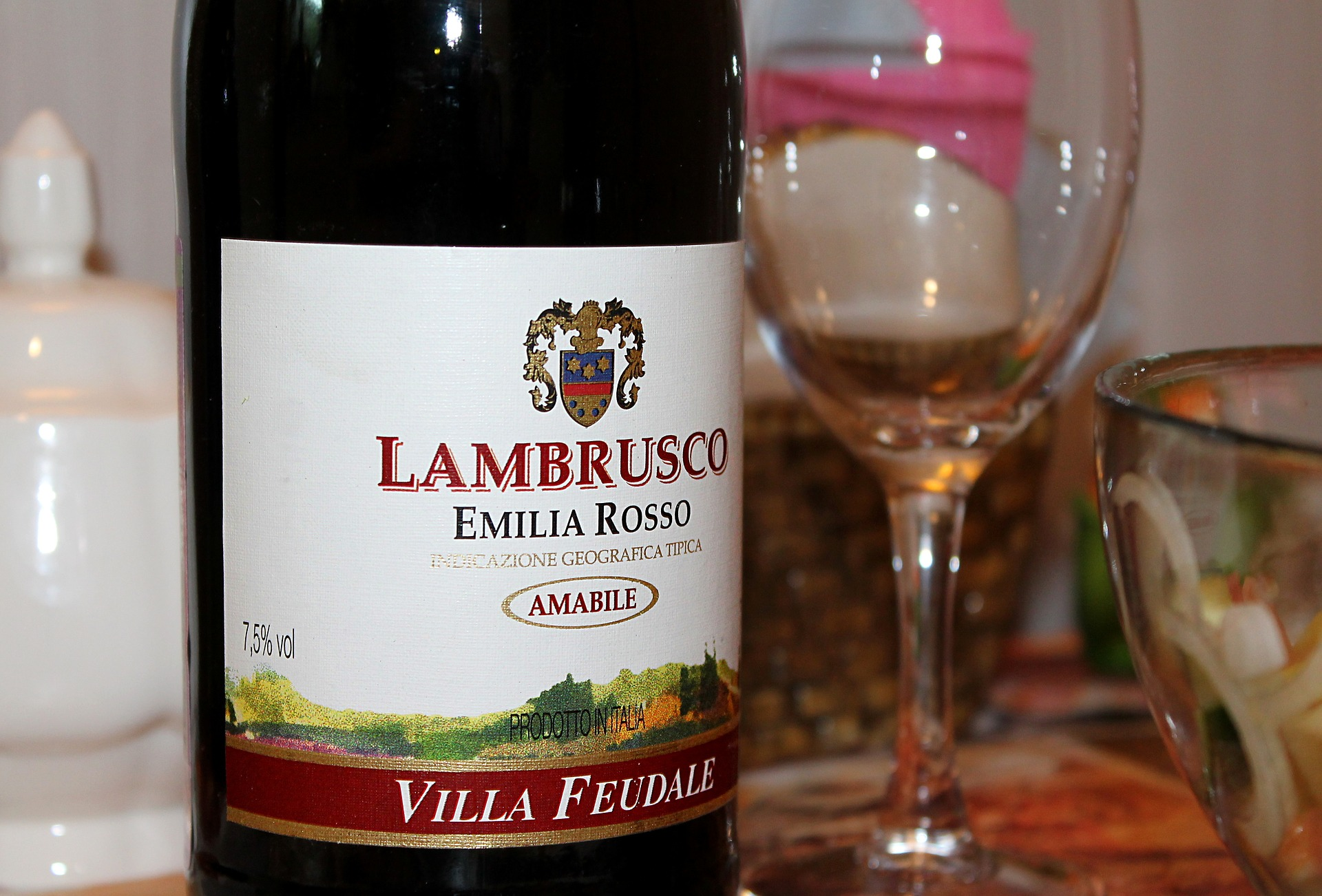 Lambrusco is treated like water at Trattoria Ermes.  Source