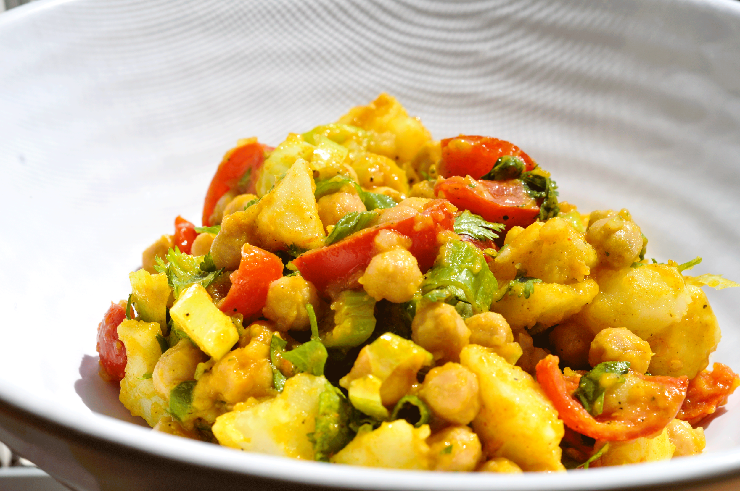 Himalayan Chickpea Potato Salad -