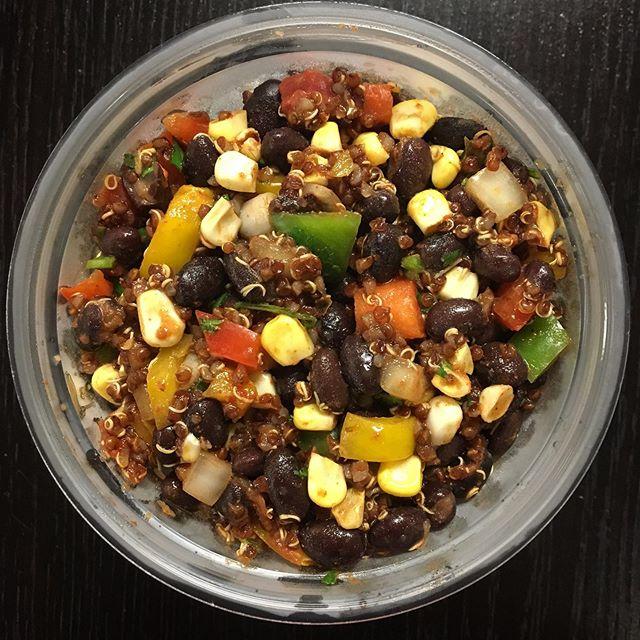 """I came, I cooked, you chow."" - Ellen Vaagen @thejuicepharm and @thejuicepharmskywalk . . You know the scoop. Here's the eats! . . 👹Black Bean Quinoa Salad - bell pepper, onion, corn, cilantro, garlic, chipotle pepper, Mexicali sauce. GF . . 🍱Sushi Salad - jasmine rice, edamame, nori, house pickled ginger, carrot, cucumber, tamari dressing. GF . . 🎃Curry Tofu Salad - carrot, bell pepper, onion, cilantro, vegan mayo curry sauce. GF . . Enjoy Duluth! . #vaagensvegansauce #veganbyvaagen #veganduluth #duluthvegan #thejuicepharm #whatveganseat #veganlunch #plantbasedpower #vegansofinstagram #vegansofinsta #quickvegan #grabngo #grabngostyle #grabngovegan #mnvegans #veganmn #vegansofminnesota #plantfood"