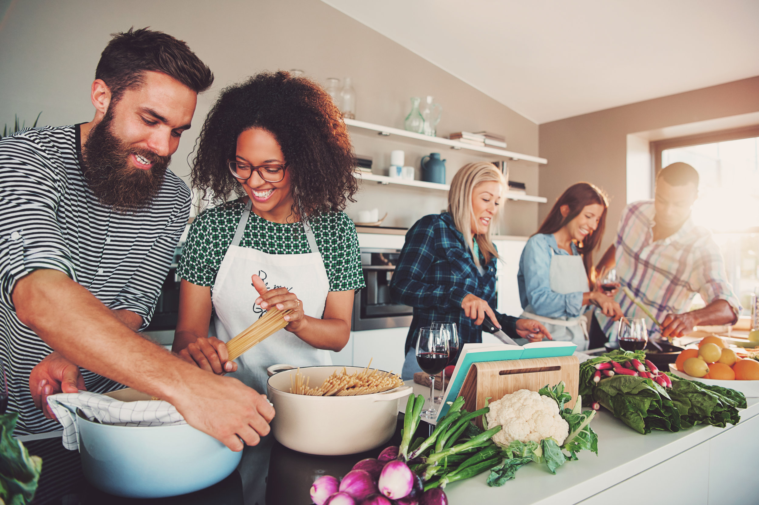 Cook at home more  Home-cooked meals can give us the opportunity to choose component ingredients over processed meals. Not only does a home-cooked bring the family together, but when you see which ingredients are going into it, you make conscious choices about what you truly want to eat.
