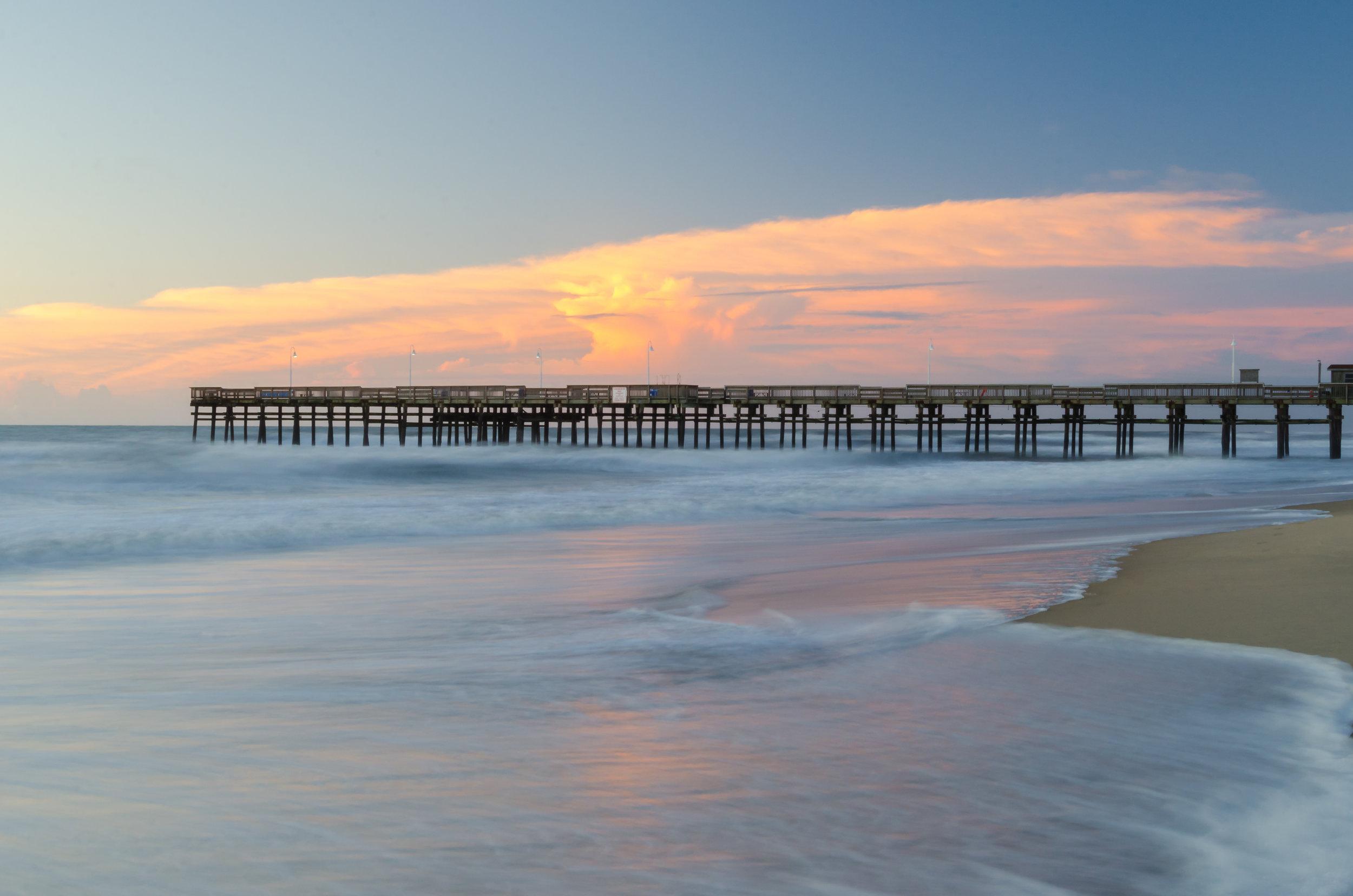 sandbridge-sandbridge pier-sandbridge beach-pier-sunrise-dawn-Virginia Beach-Virginia-long exposure-beach.jpg