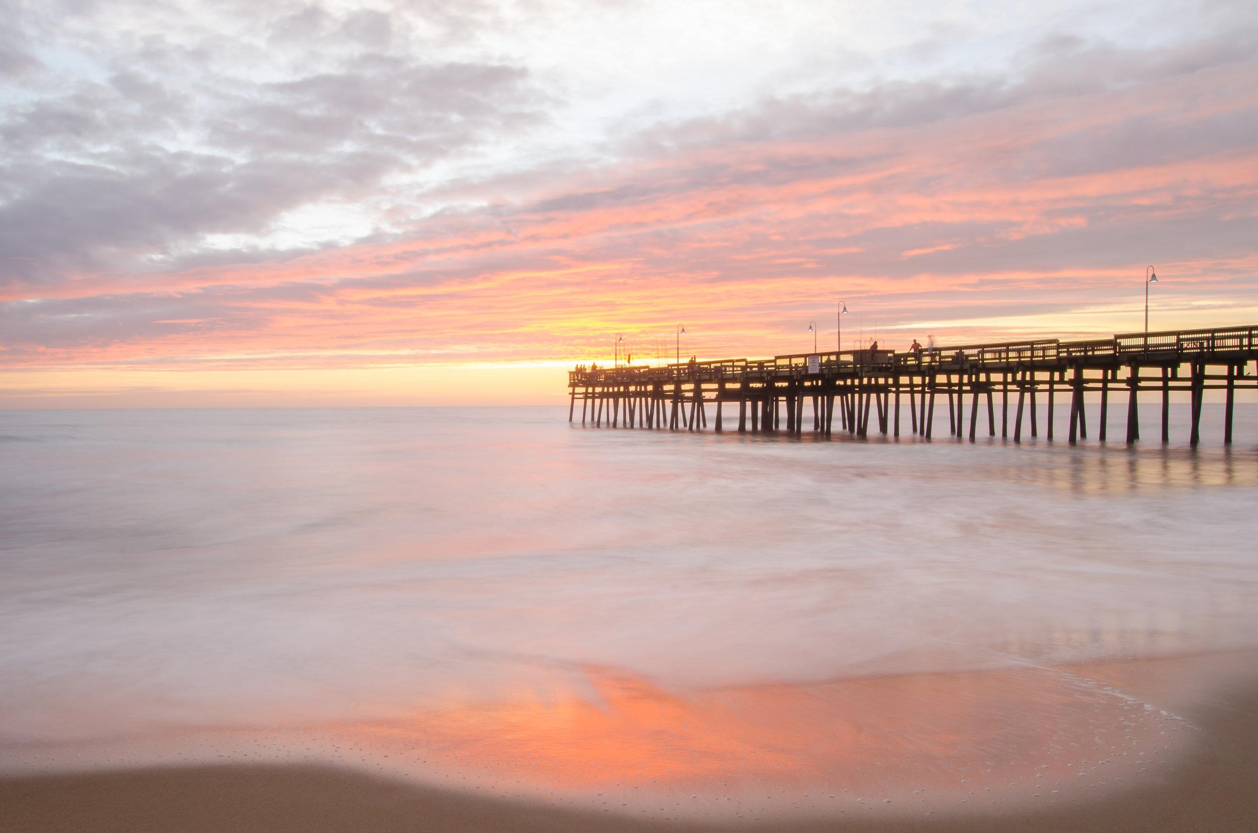 sandbridge-sandbridge pier-sandbridge beach-pier-sunrise-dawn-Virginia Beach-Virginia-pink-beach.jpg