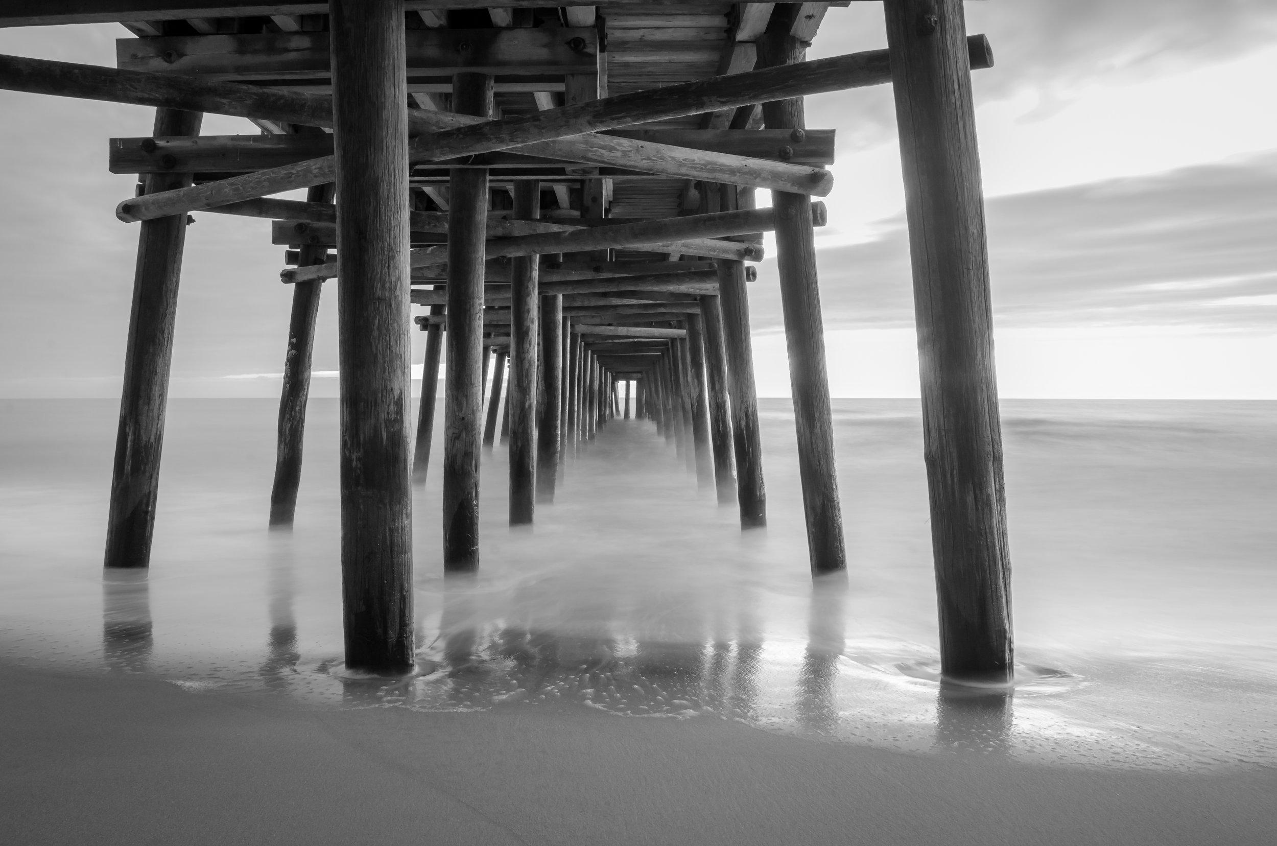 sandbridge-sandbridge pier-sandbridge beach-pier-black and white-dawn-Virginia Beach-Virginia-beach.jpg