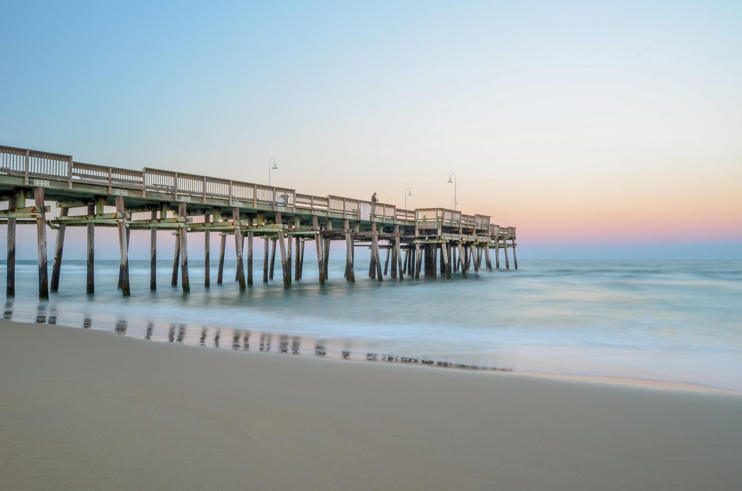 Sandbridge Pier-dusk-Sandbridge-Virginia Beach-Virginia.jpg