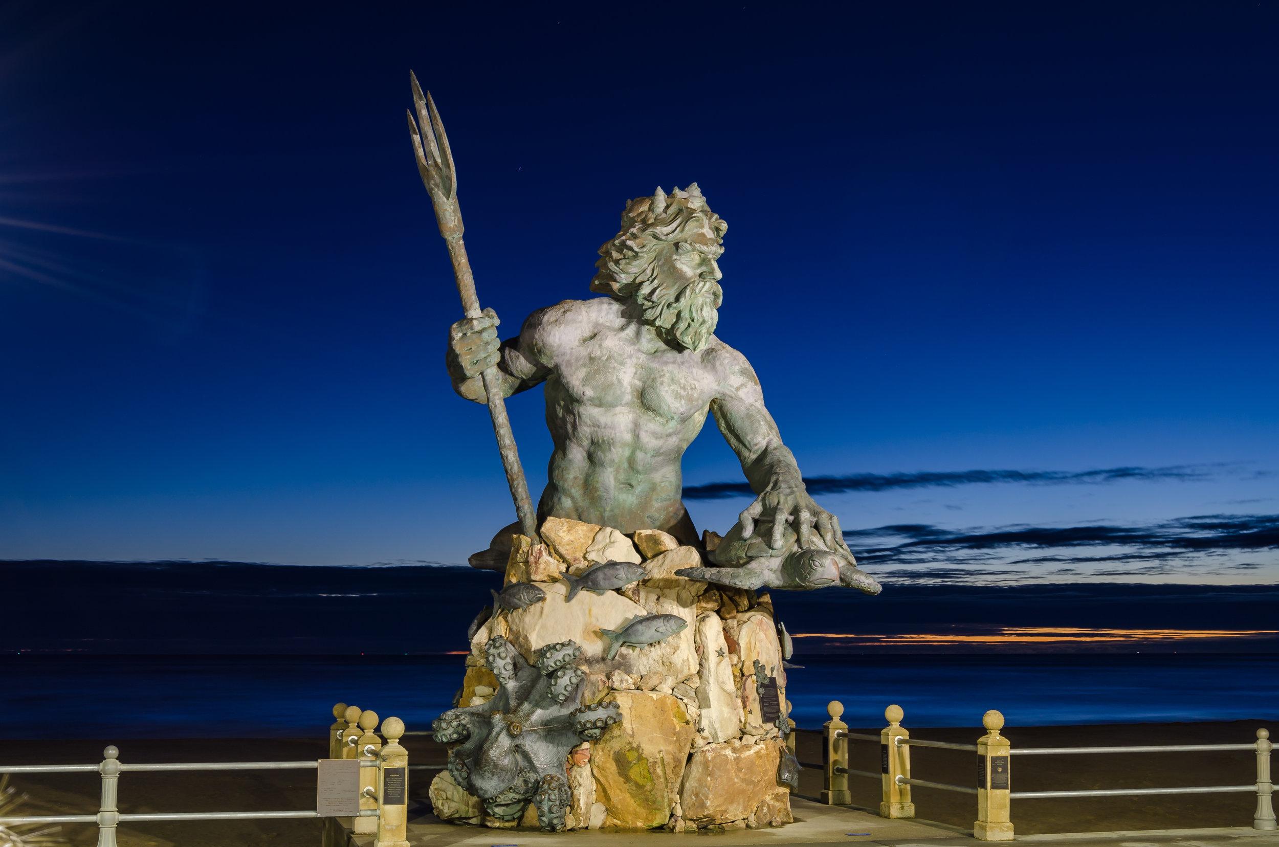 King Neptune-Neptune-statue-sunrise-dawn-Virginia Beach-beach-Virginia.jpg