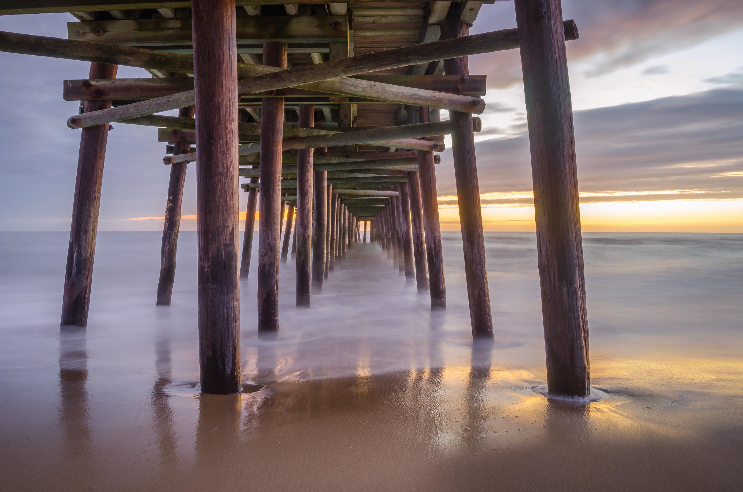 sandbridge-sandbridge pier-sandbridge beach-pier-sunrise-dawn-Virginia Beach-Virginia-under-beach.jpg
