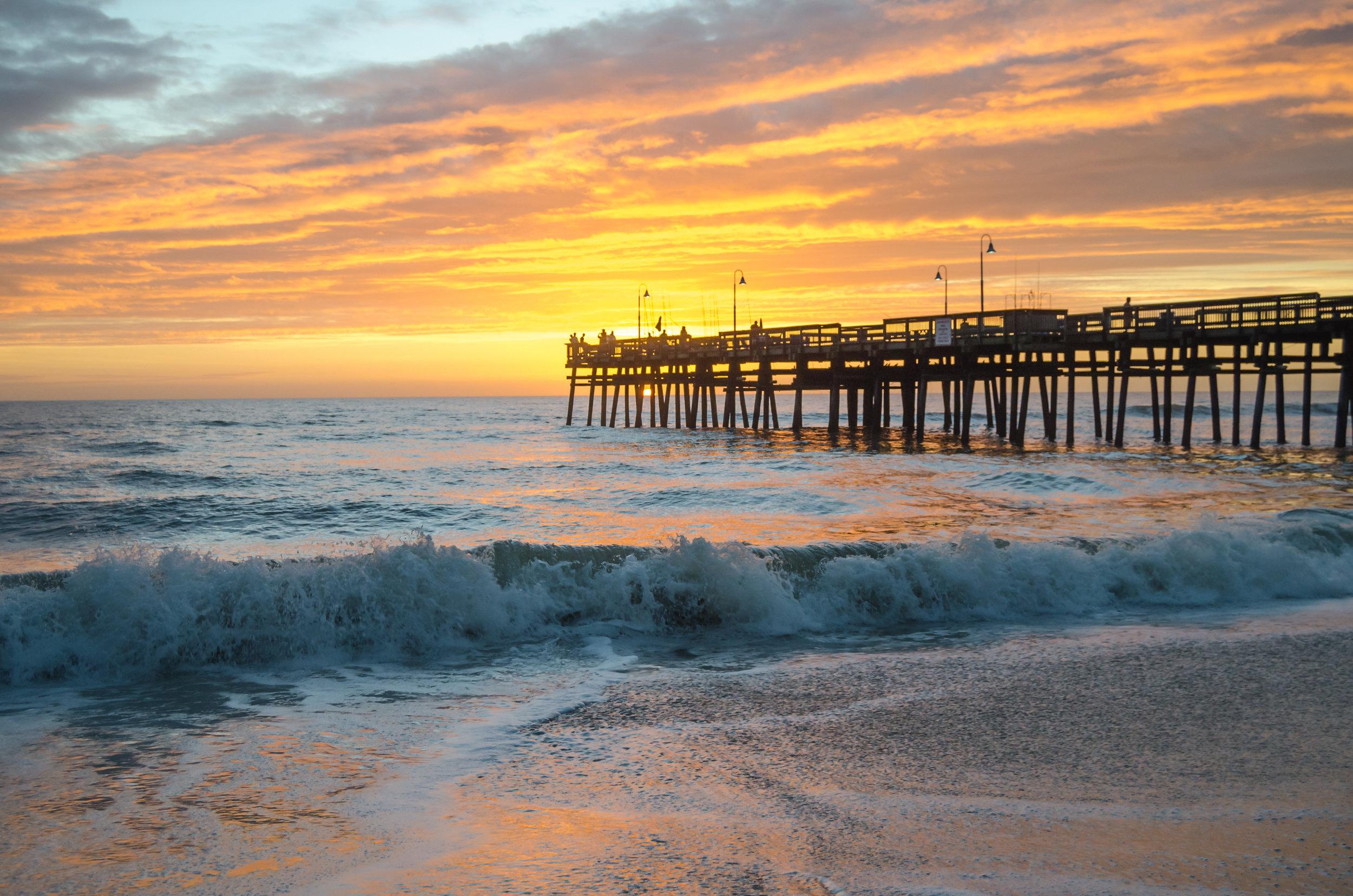 sandbridge-sandbridge pier-sandbridge beach-pier-sunrise-dawn-Virginia Beach-Virginia-wave-beach.jpg