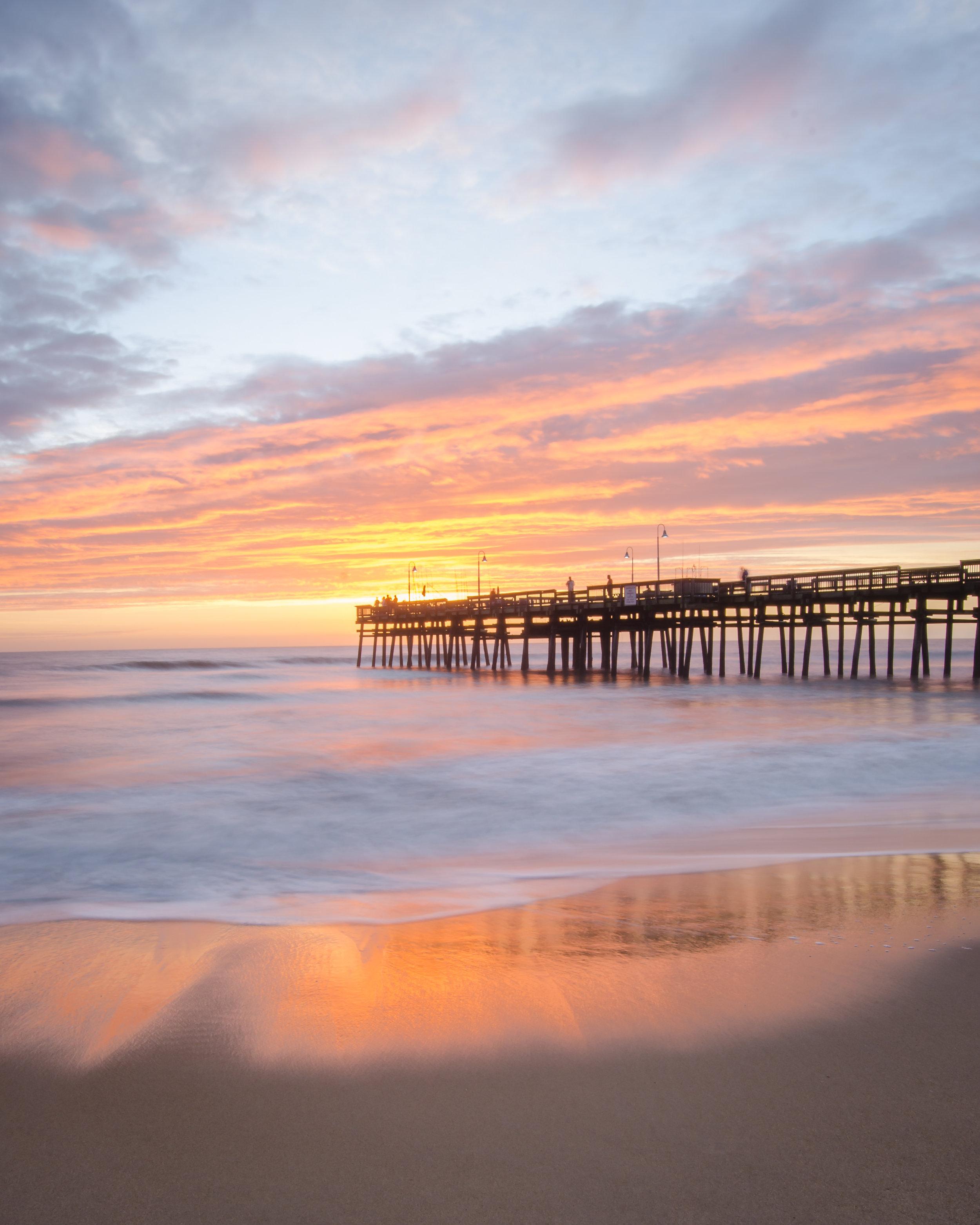 sandbridge-sandbridge pier-sandbridge beach-pier-sunrise-dawn-Virginia Beach-Virginia-reflection-beach.jpg