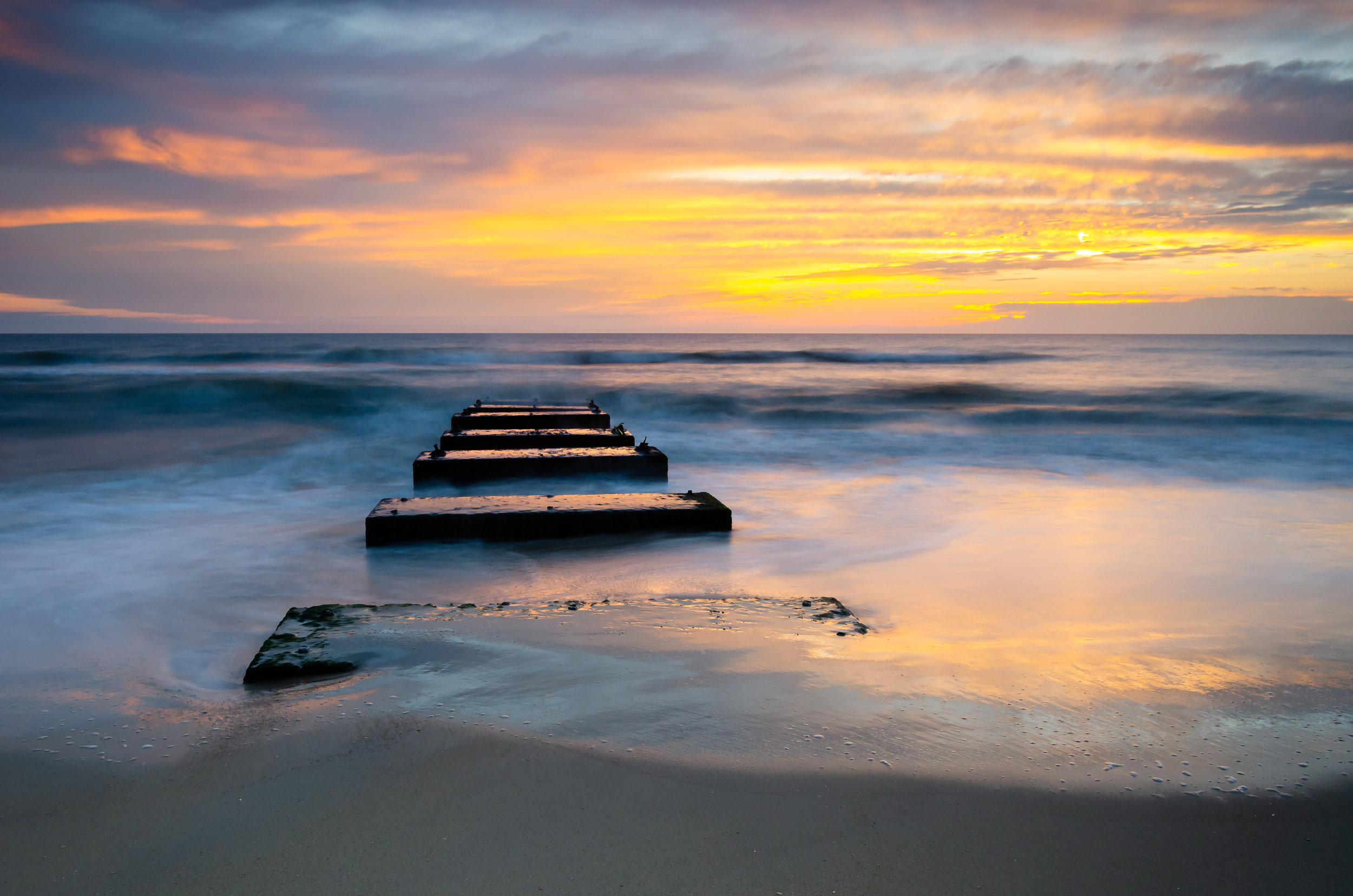 Nags Head-sunrise-blocks-beach-OBX-Outer Banks-dawn-North Carolina.jpg