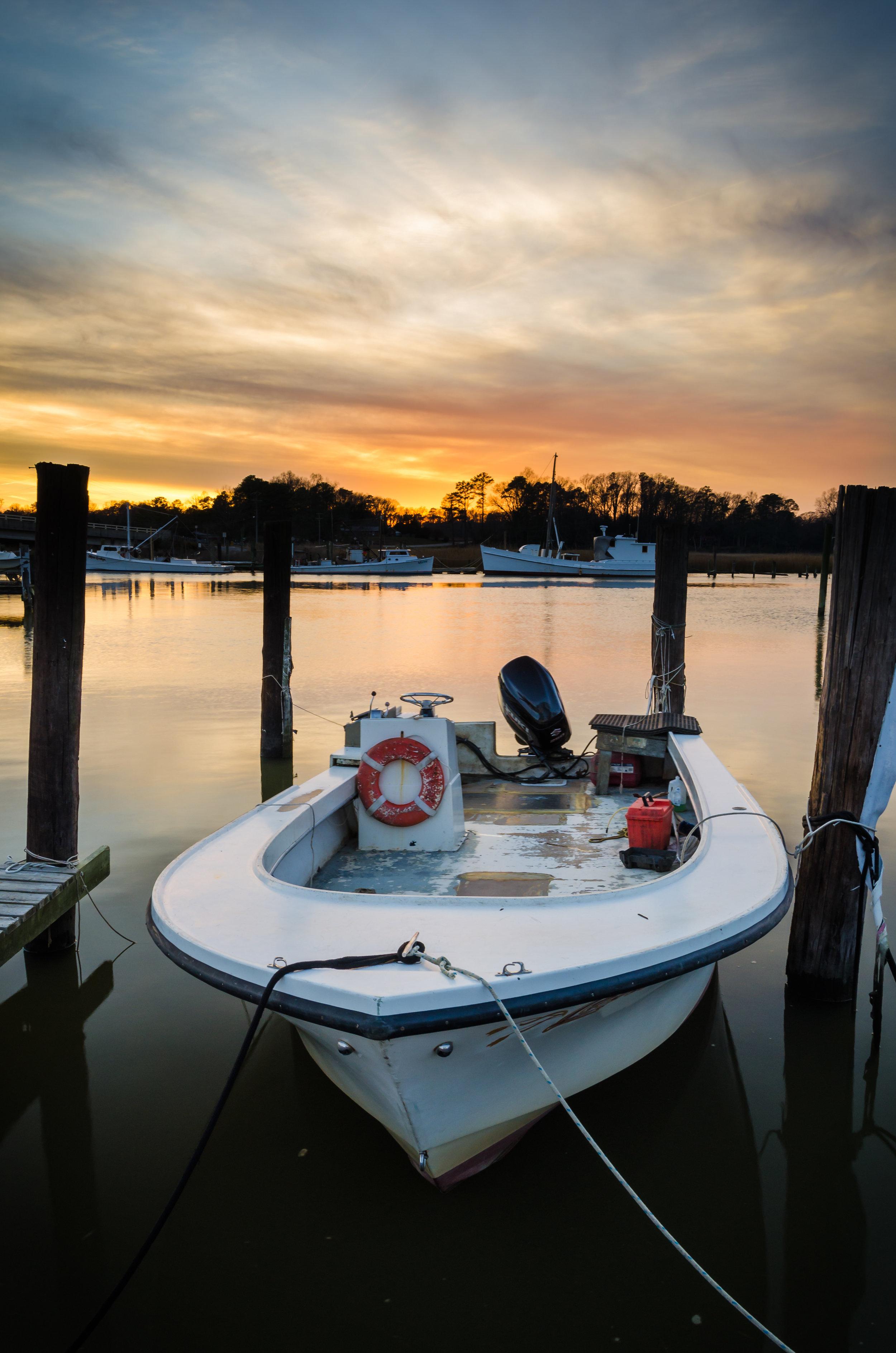 rescue-jones creek-pier-isle of wight county-virginia-sunset-boat.jpg