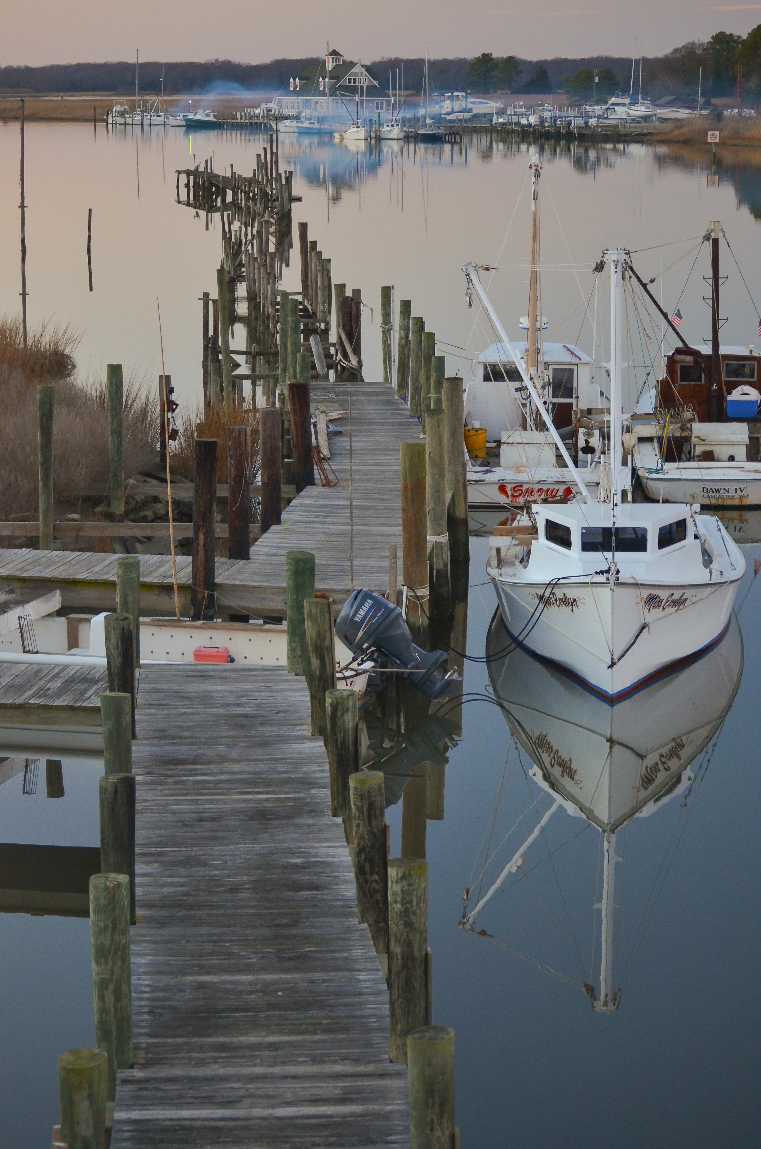 dock-fishing boats-boats-reflection-Isle of Wight County-Virginia.jpg
