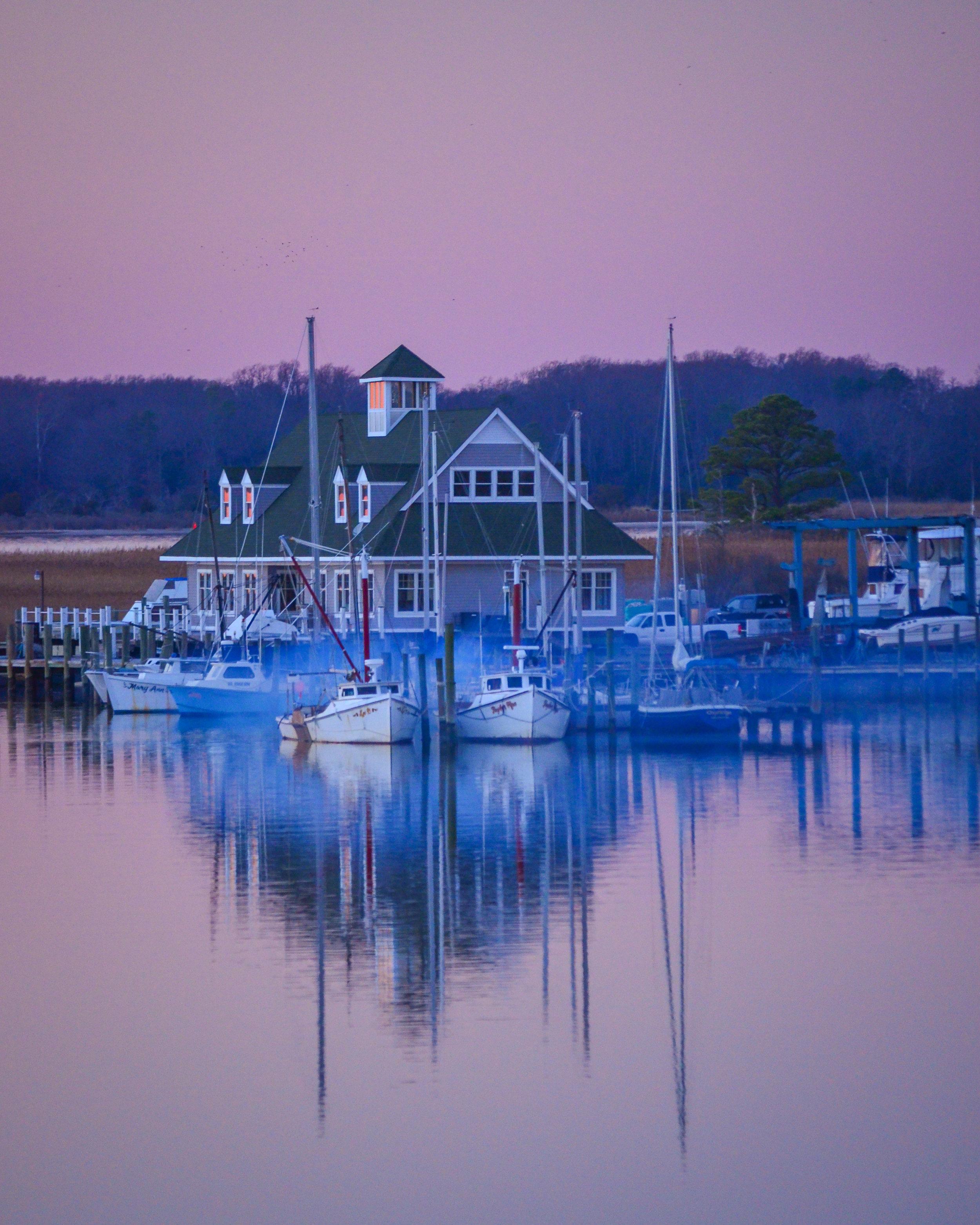 purple haze-marina-boats-reflection-water-Isle of Wight County-Virginia.jpg