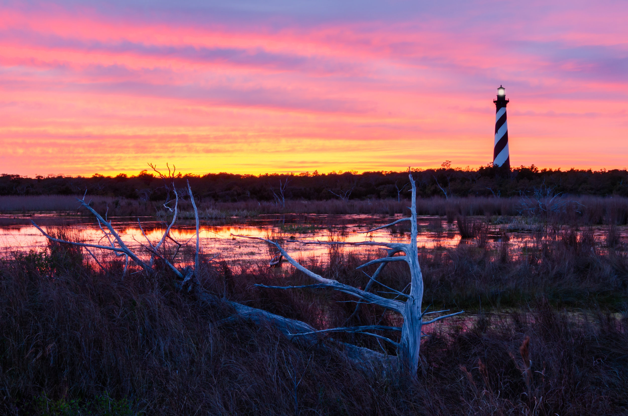 Cape Hatteras Lighthouse-OBX-Outer Banks-Sunset-Driftwood-North Carolina.jpg