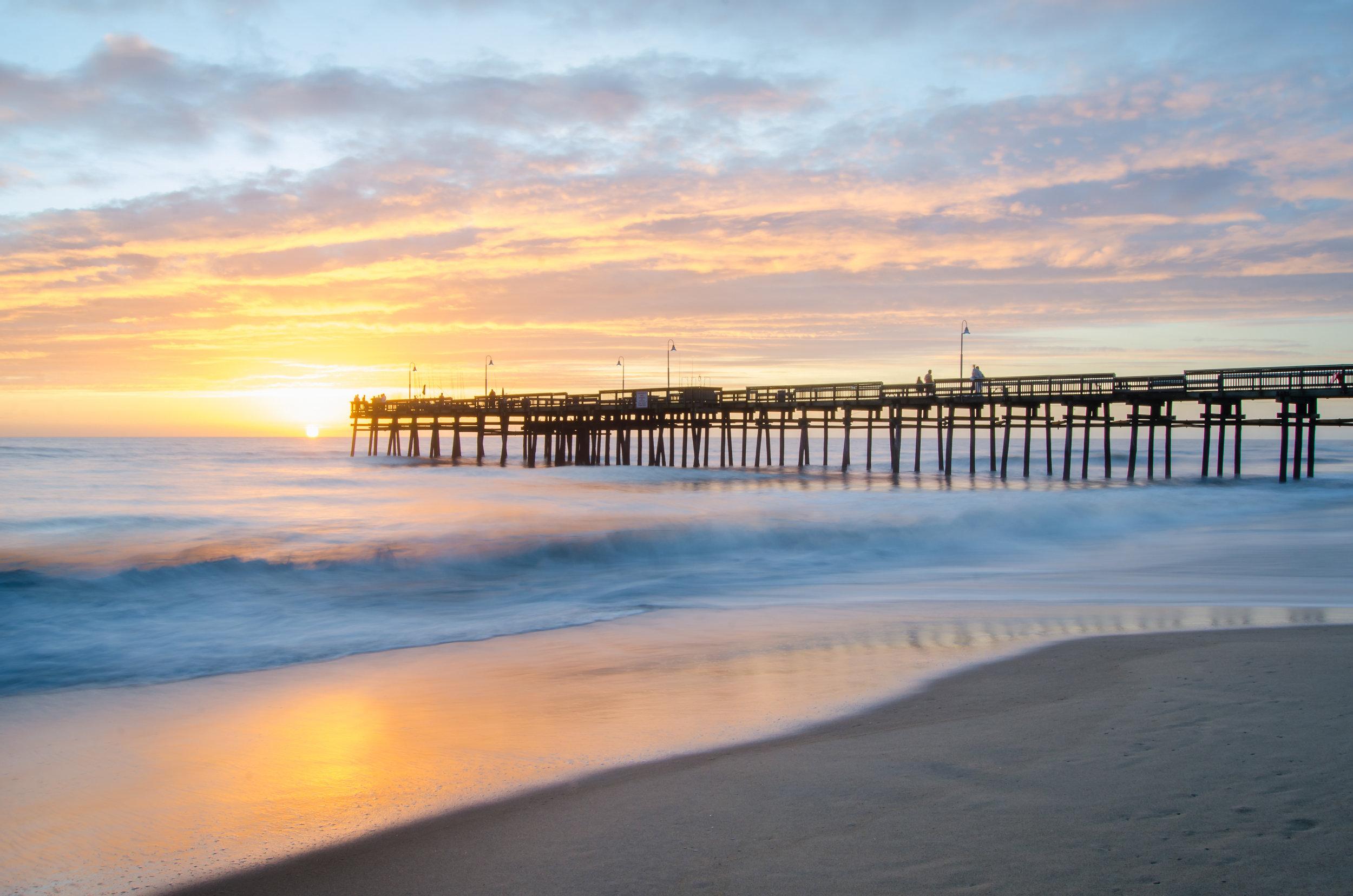 Beautiful, sunrise at Sandbridge Pier in Virginia Beach, Virginia.jpg