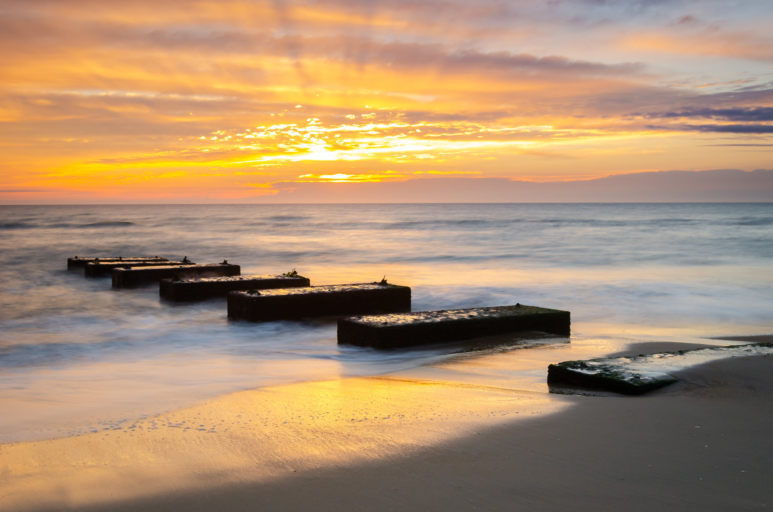 Nags Head-sunrise-blocks-beach-OBX-Outer Banks-steps-North Carolina.jpg
