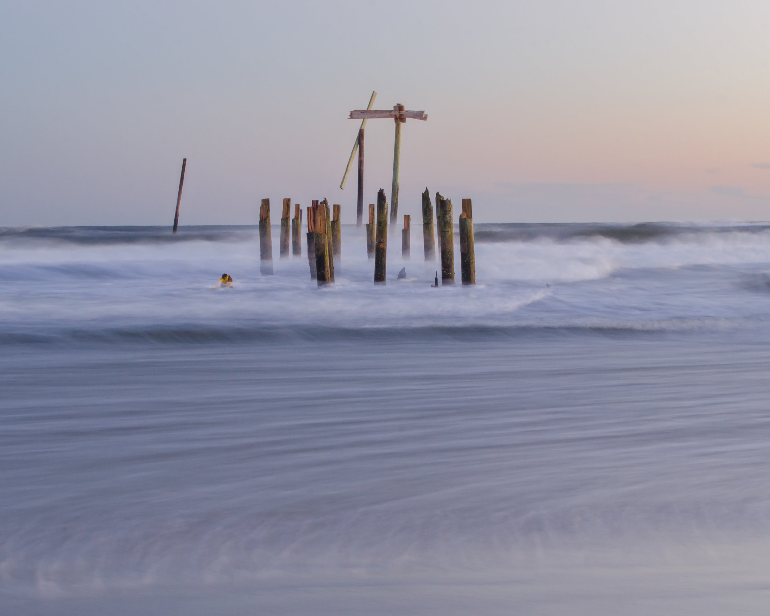 The ruins of Frisco Pier on the Outer Banks of North Carolina.jpg