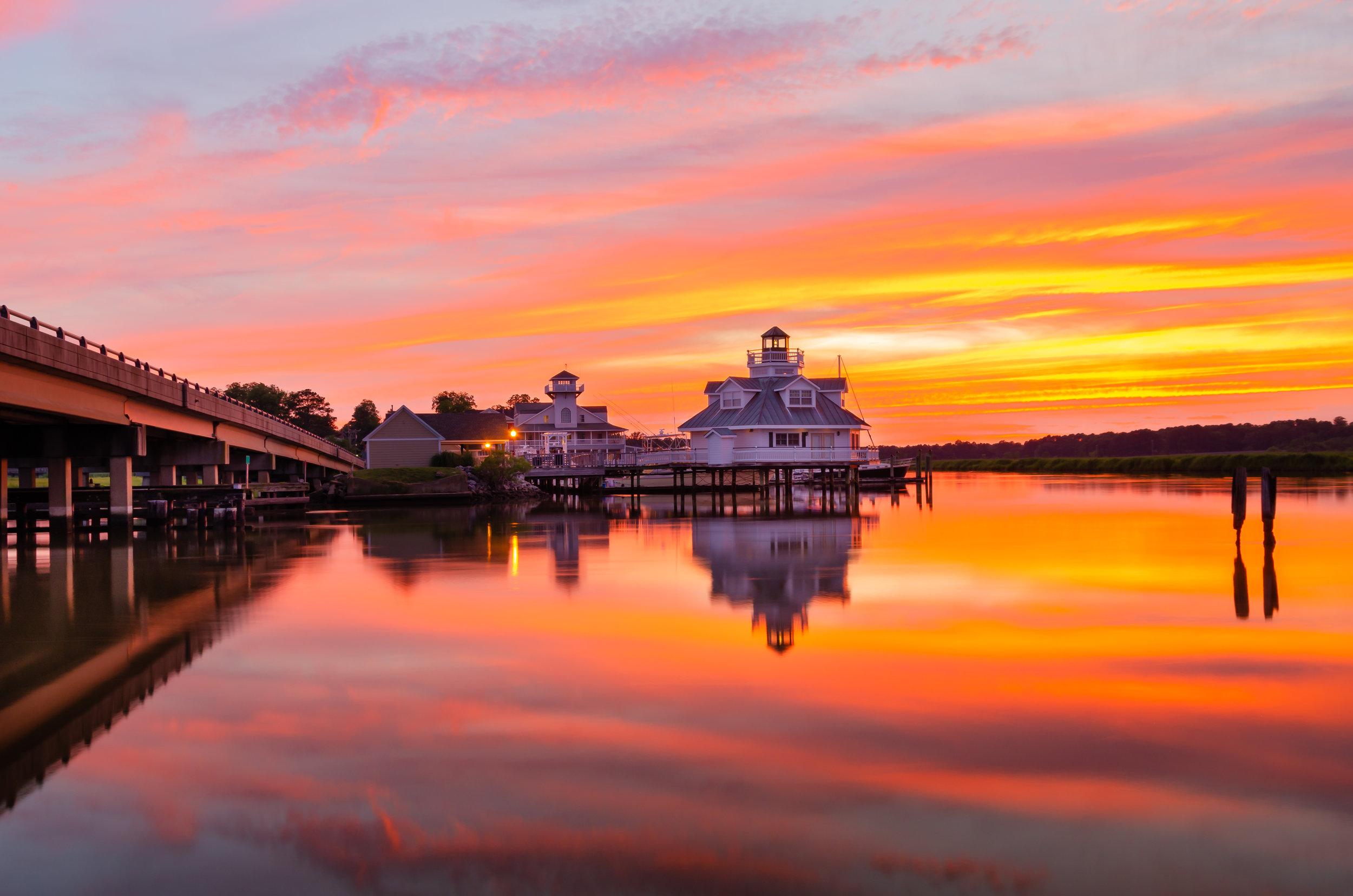 Smithfield Station-Virginia-Isle of Wight-Sunset-lighthouse-bridge.JPG