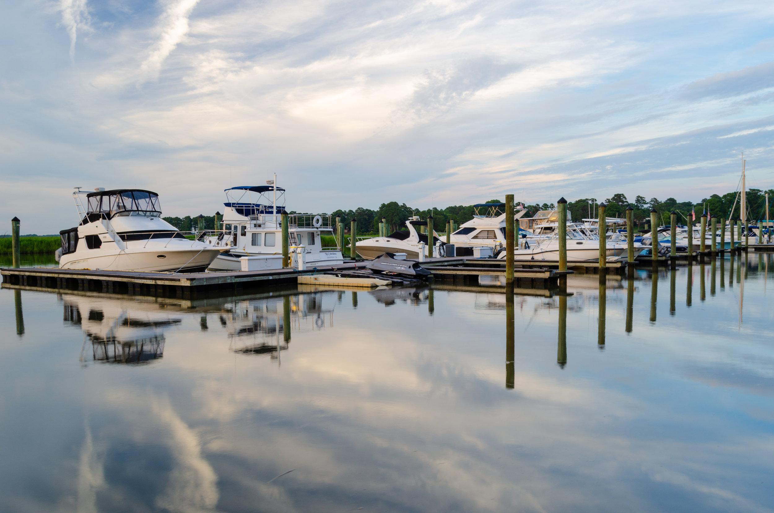Smithfield-Isle of Wight County-Virginia-boats-marina-clouds-reflection-water.JPG