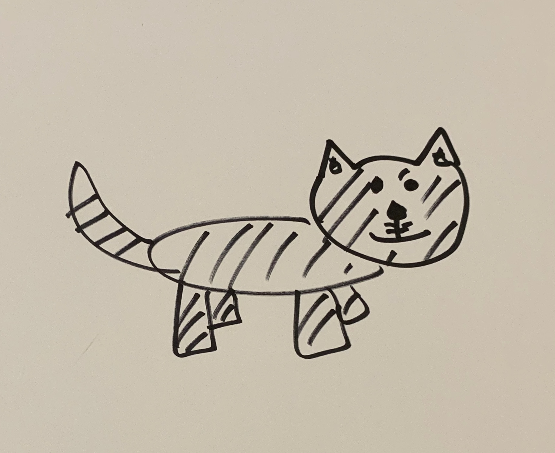 - (if you are curious why I am a writer and not an artist, here is a recent Tiger drawing commissioned by my middle son)