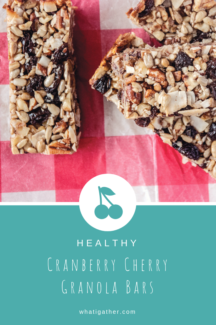 Cranberry Cherry Granola Bars Pinterest