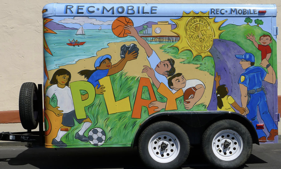 Mobile Recreation Center - Bringing facilitated activities to a park near you, the Rec Mobile is supported by local companies and individuals.
