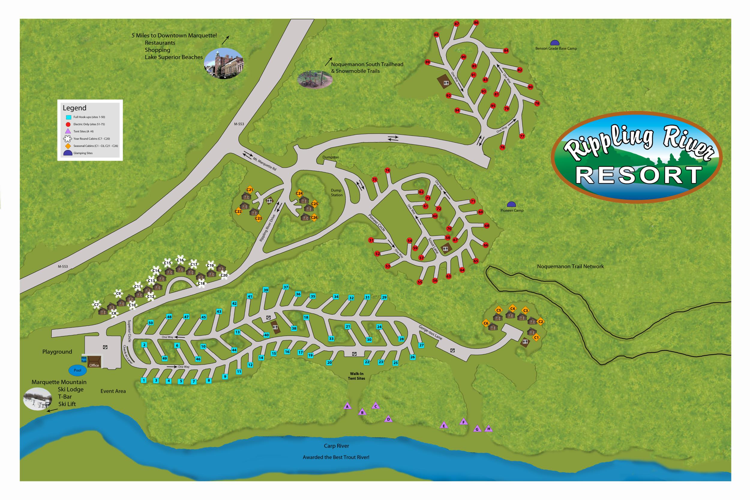 Rippling River Resort Map.png