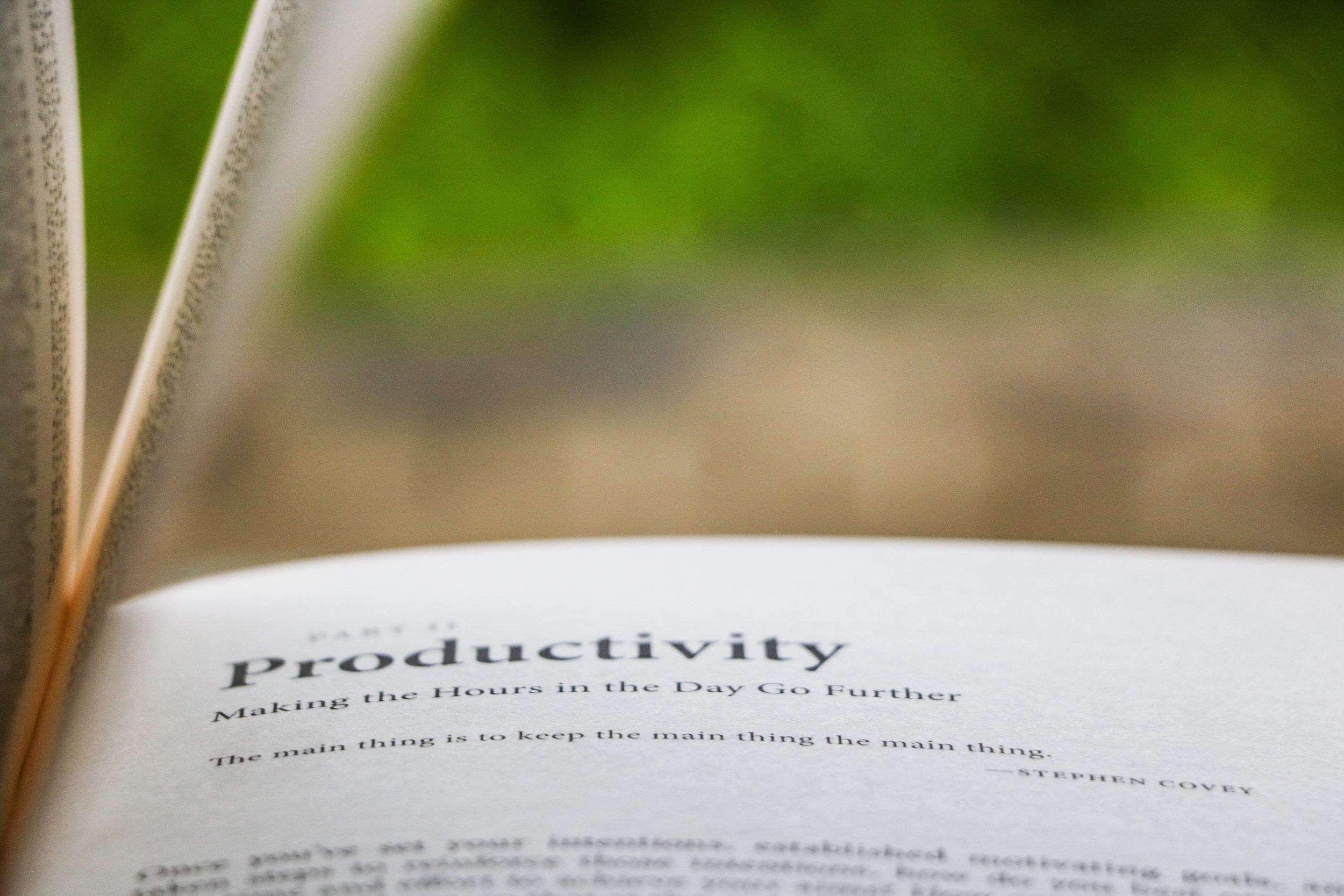 Productivity -