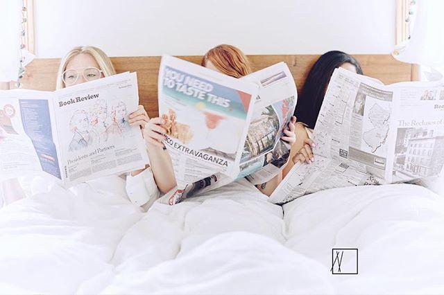 Boning up on the top news #3wayduvet . . . . . . #love #dating #throuple #3way #threeway #singles #matchmaker #matchmaking #datingadvice #relationshipgoals #datingtips #romance #relationships #aprilfools #somethingbetter #datingservice #romantic #couples #datenight #partners #lovers #kiss #mondaymotivation #lovegoals #cuddle #morningafter