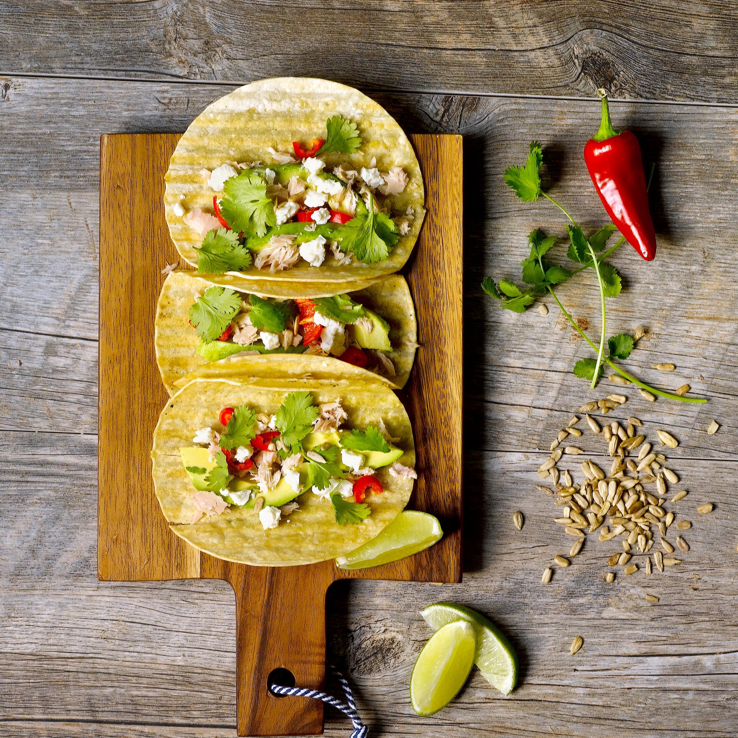 Soft Tacos with Cole's Tuna -