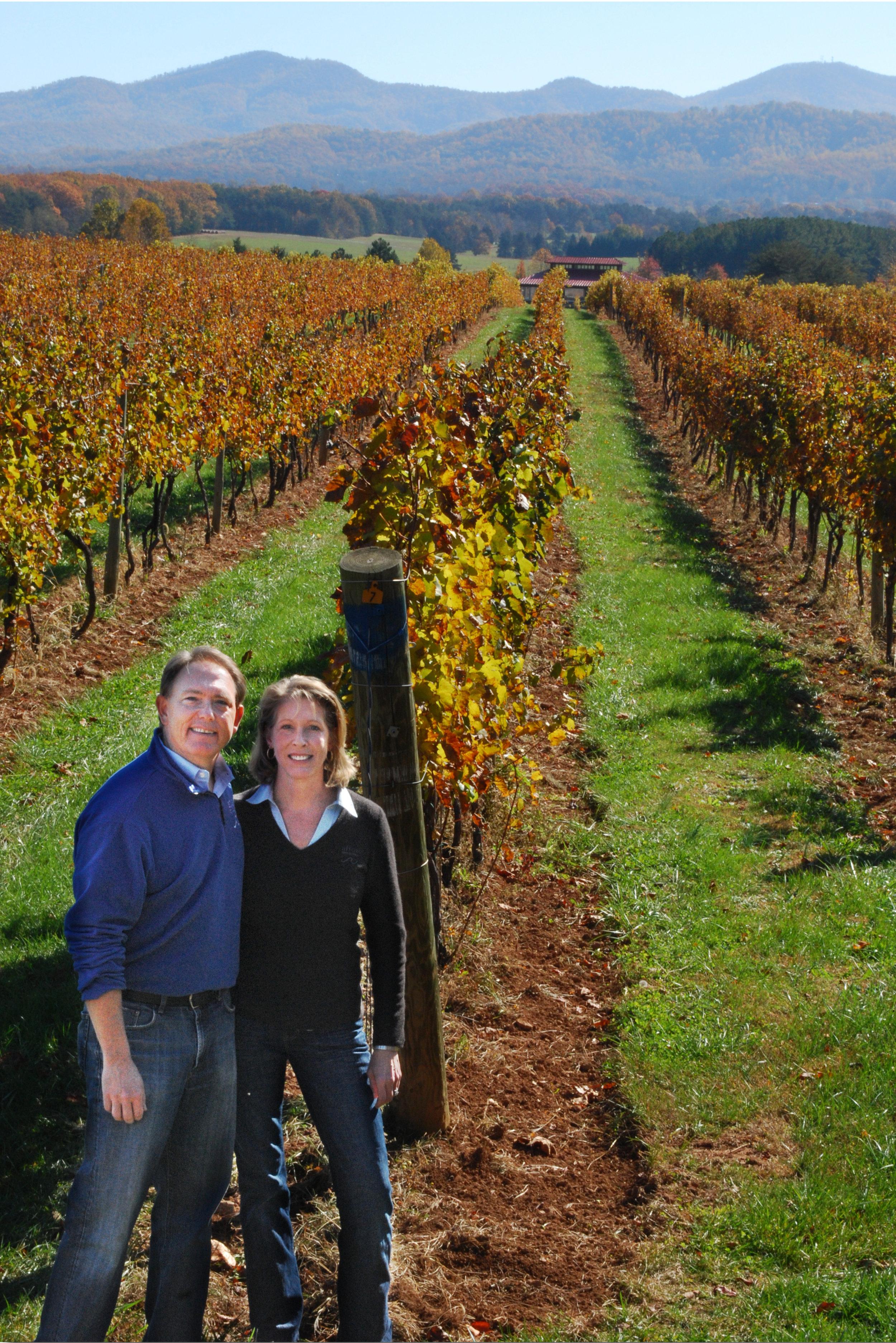Charlottesville Wine Tour, Blue Ridge Tours, Afton Mountain Vineyards, Elizabeth Smith and Tony Smith.jpg