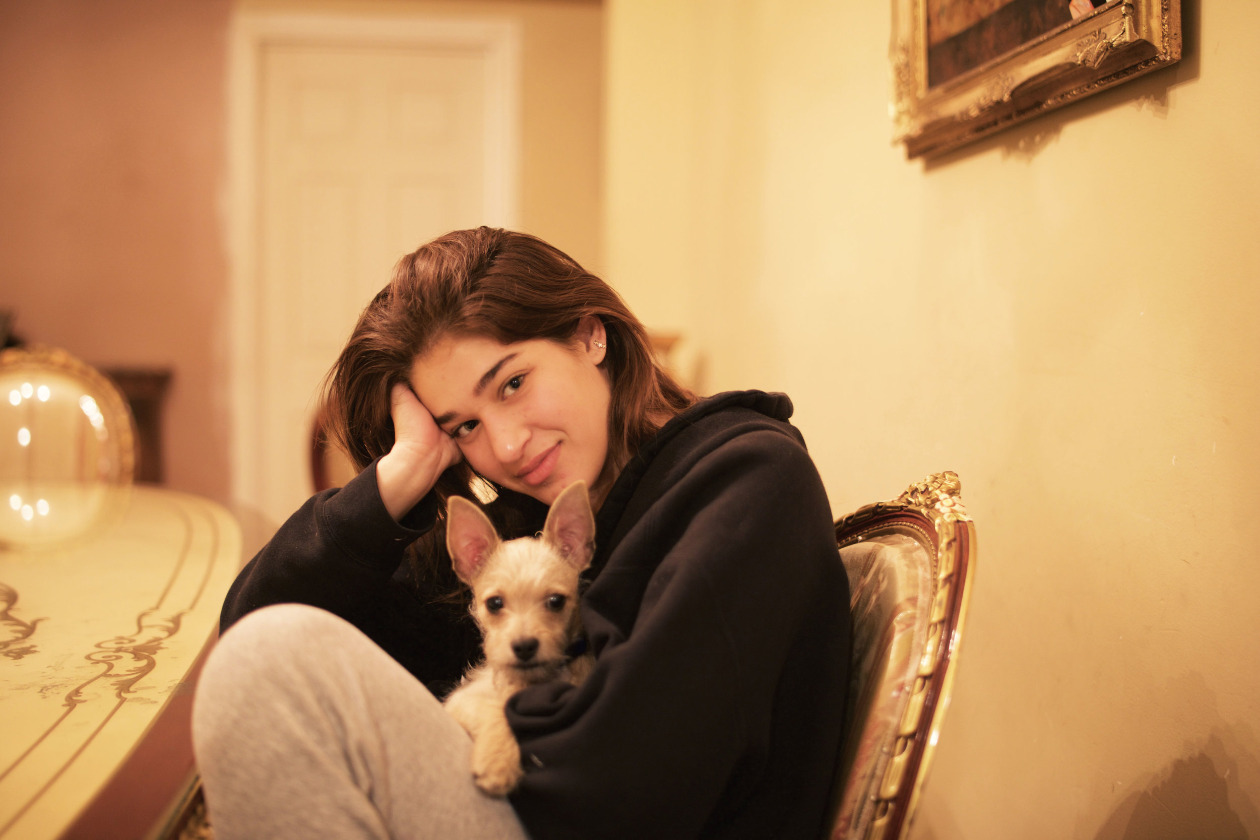 Debby and the Rasson's new puppy, Kudo