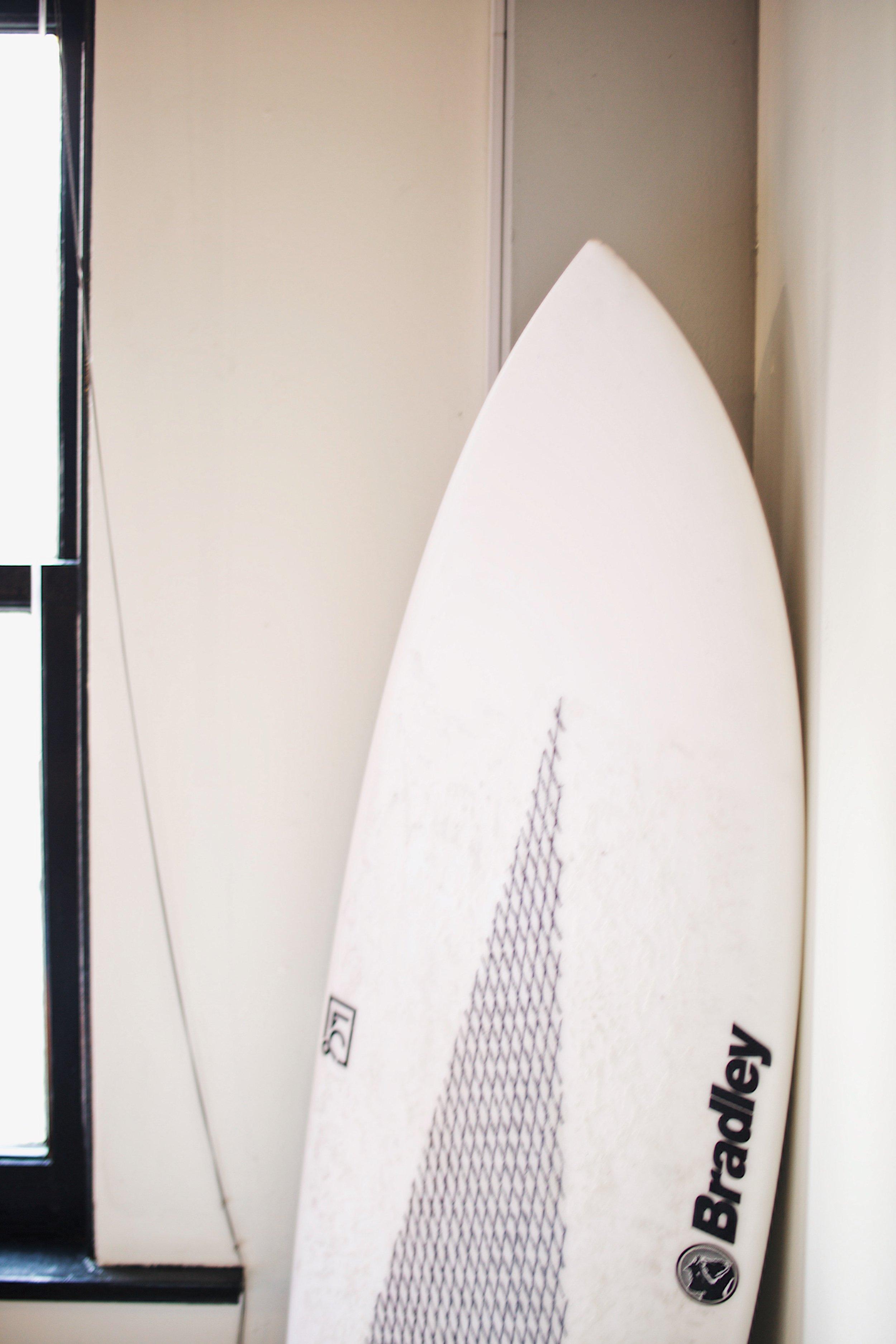Surfing is one of Karen's hobbies