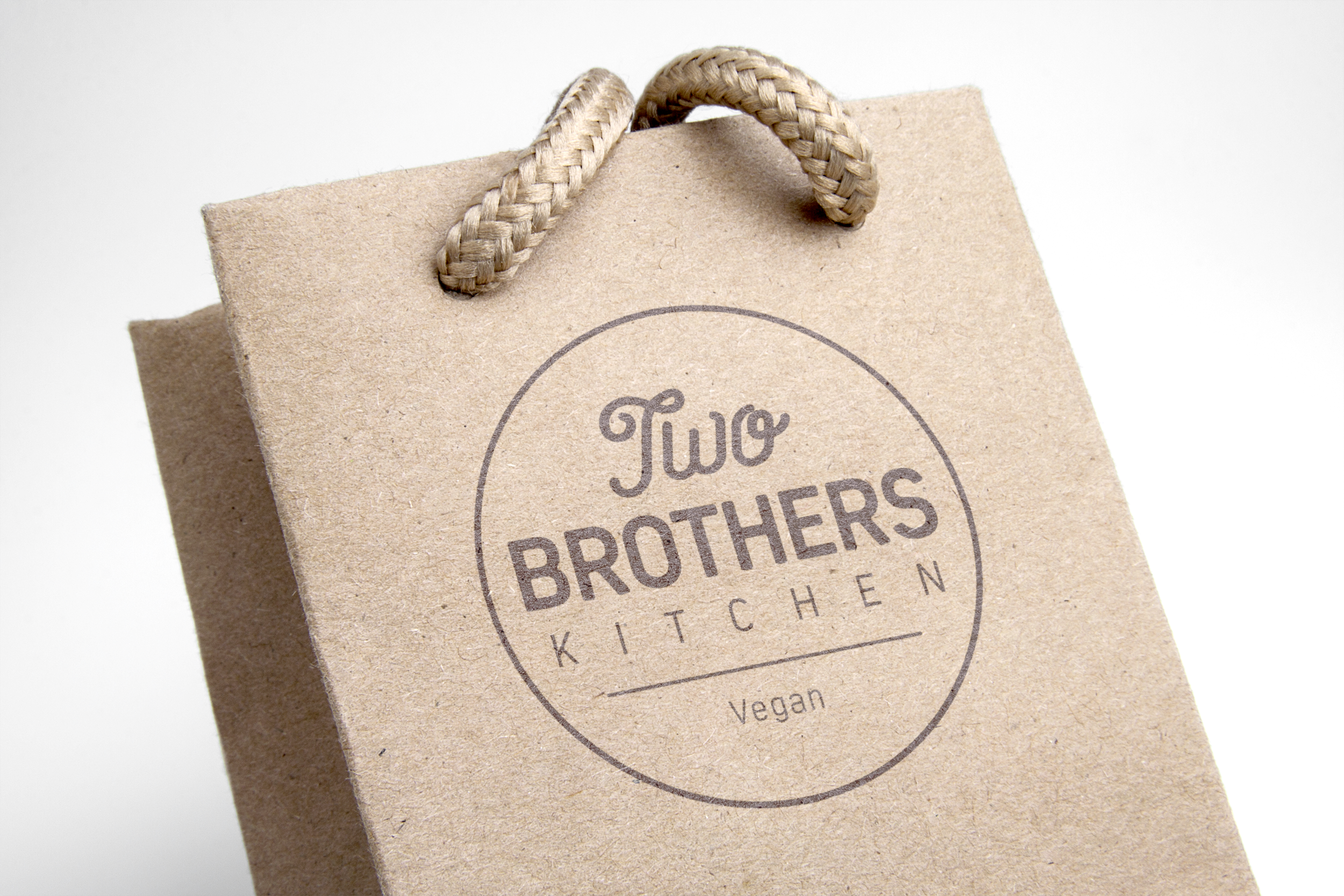 Printed logo on recycled paper bag