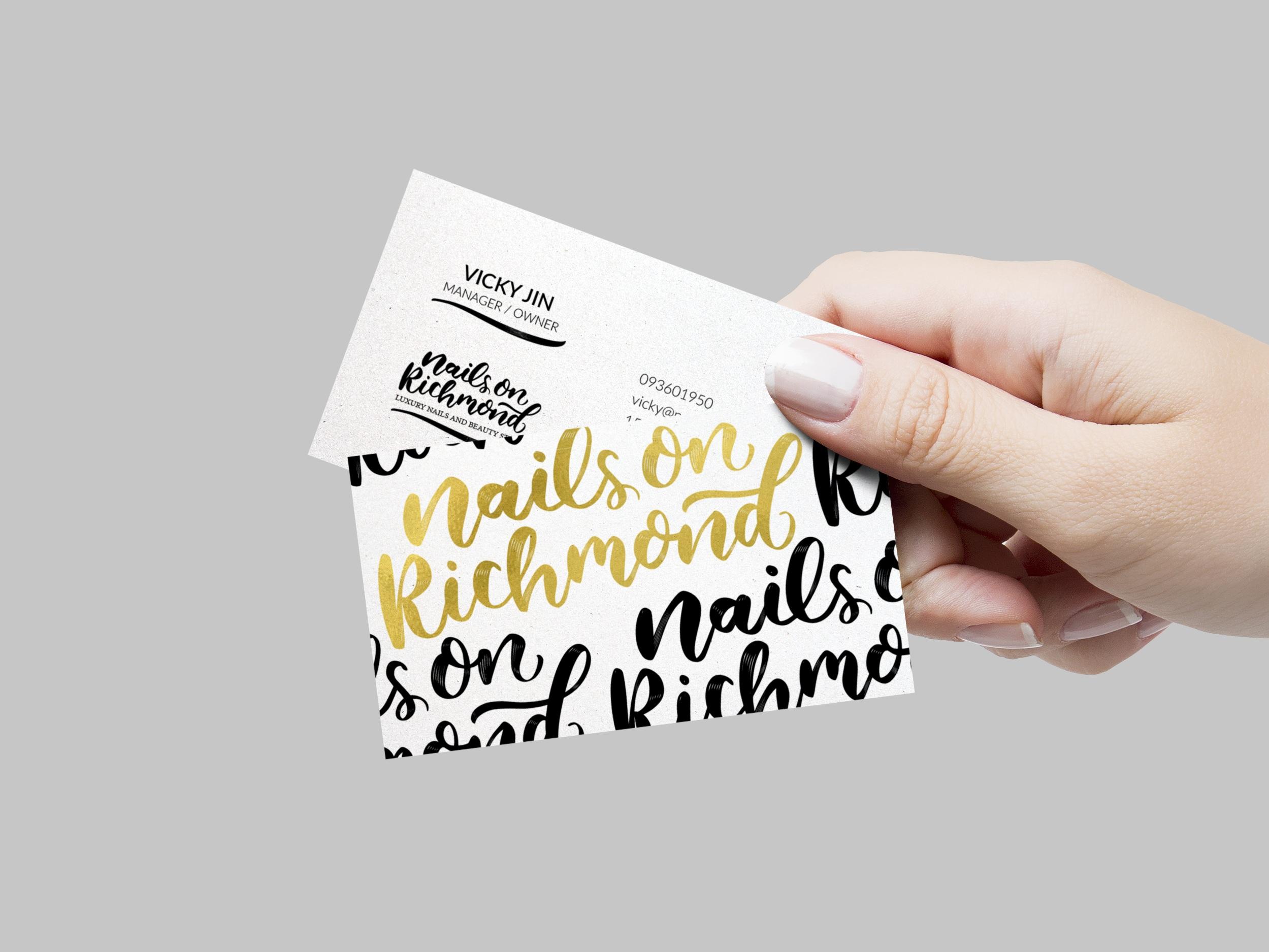 Nails on Richmond   Logo | Business Card | Price List | Gift Voucher | Signage